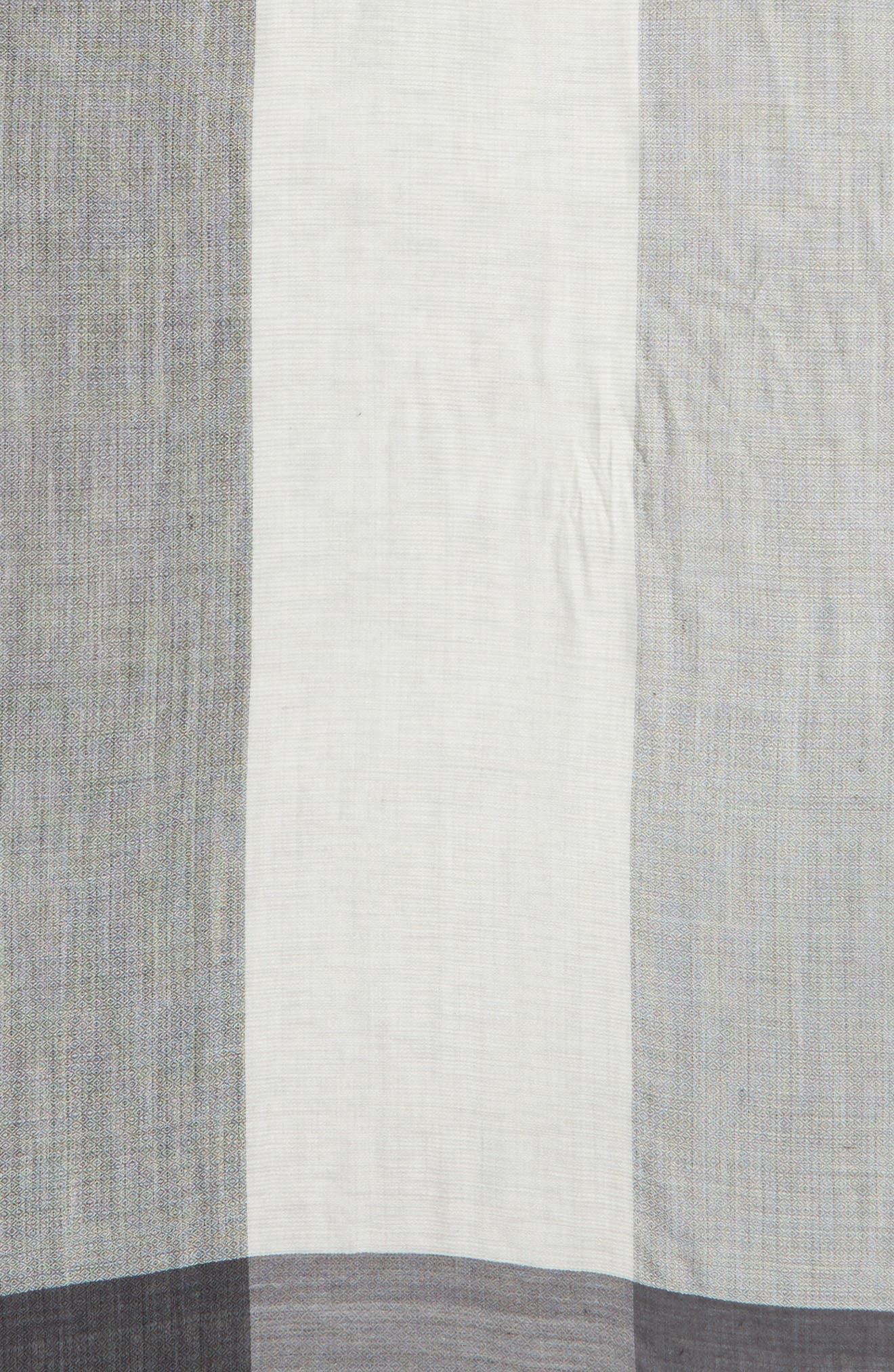 Colorblock Wool & Silk Scarf,                             Alternate thumbnail 4, color,                             030