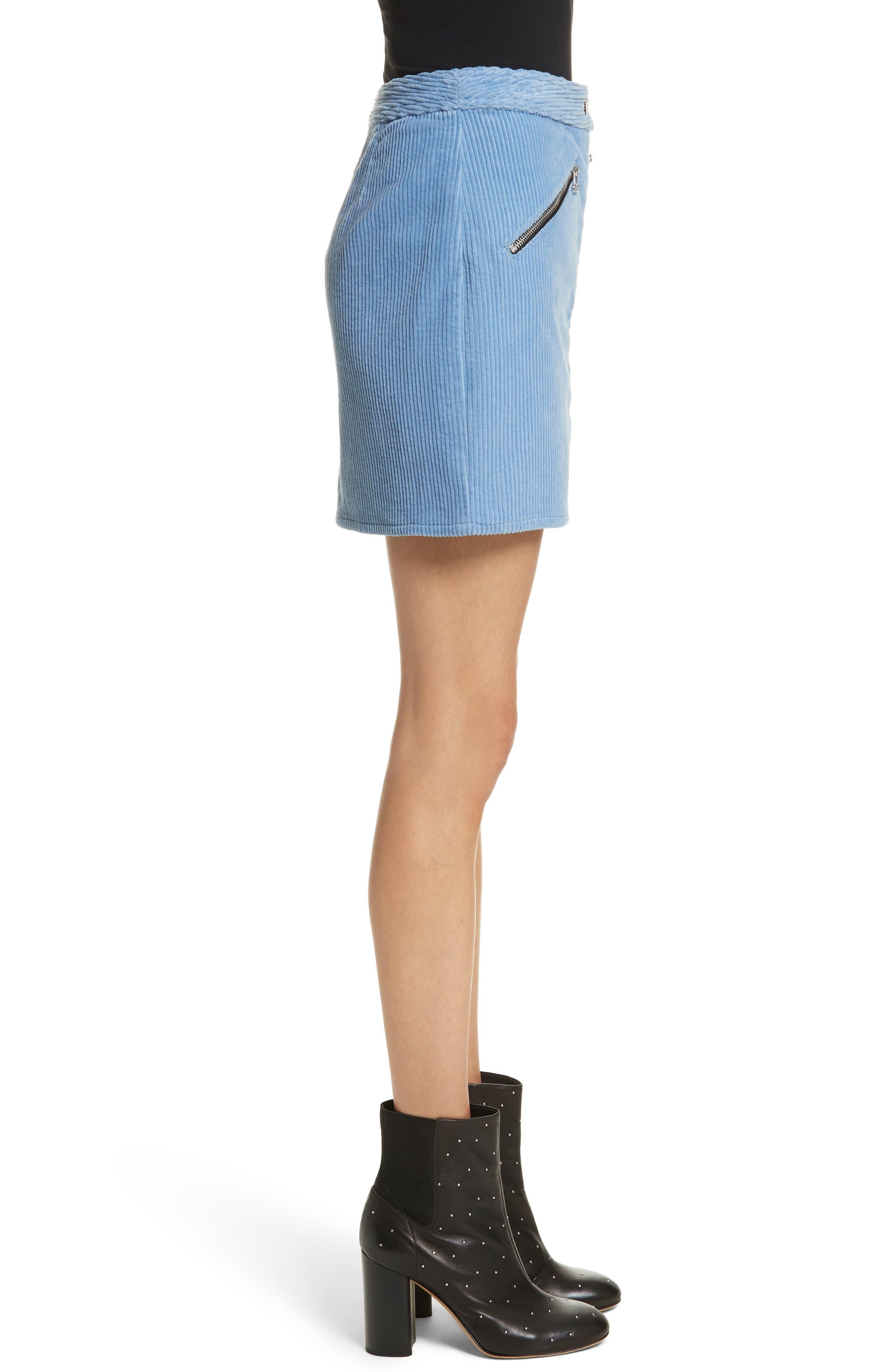 Racer Corduroy Miniskirt,                             Alternate thumbnail 3, color,