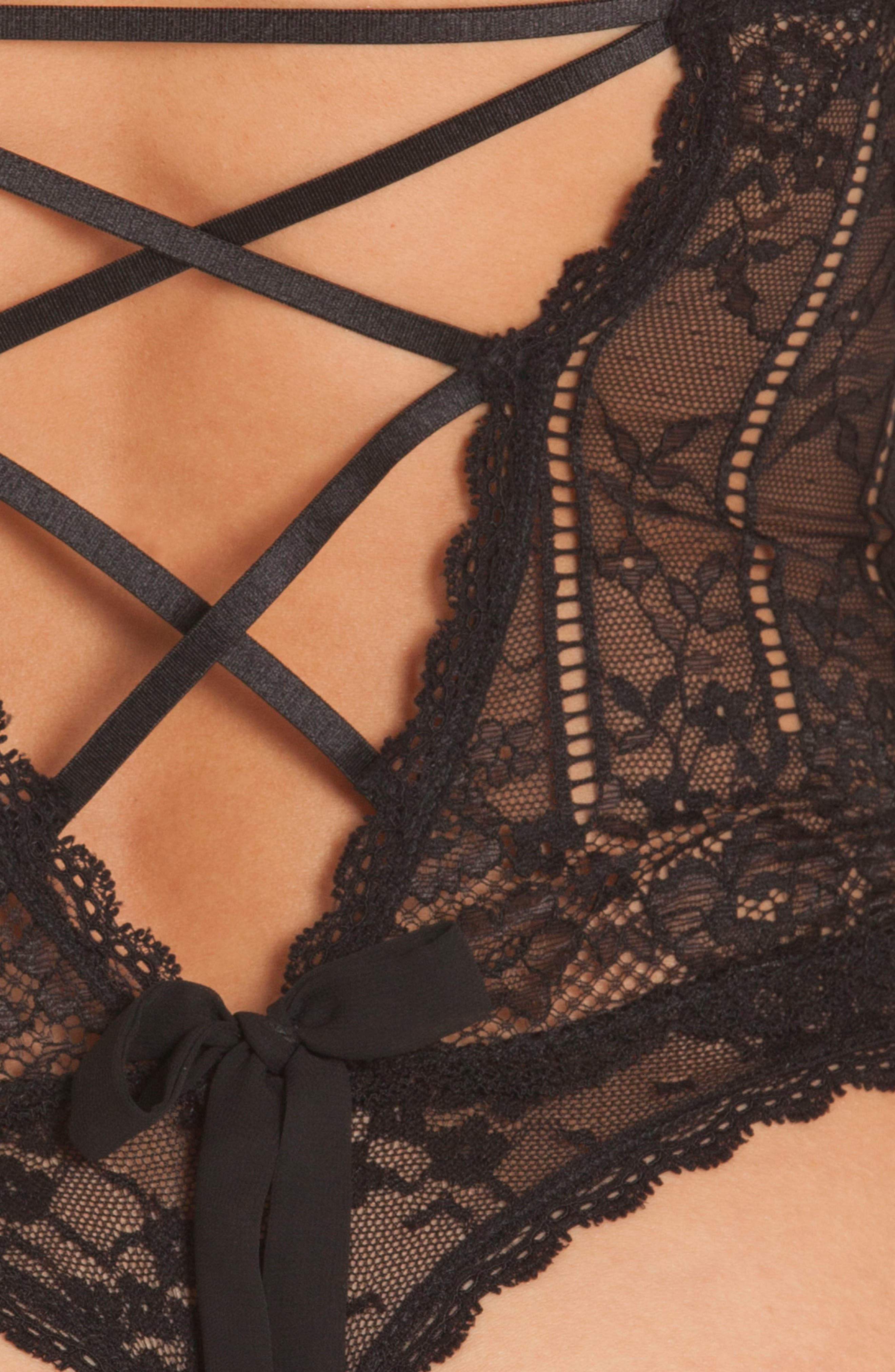 Livia Lace Thong Teddy,                             Alternate thumbnail 9, color,
