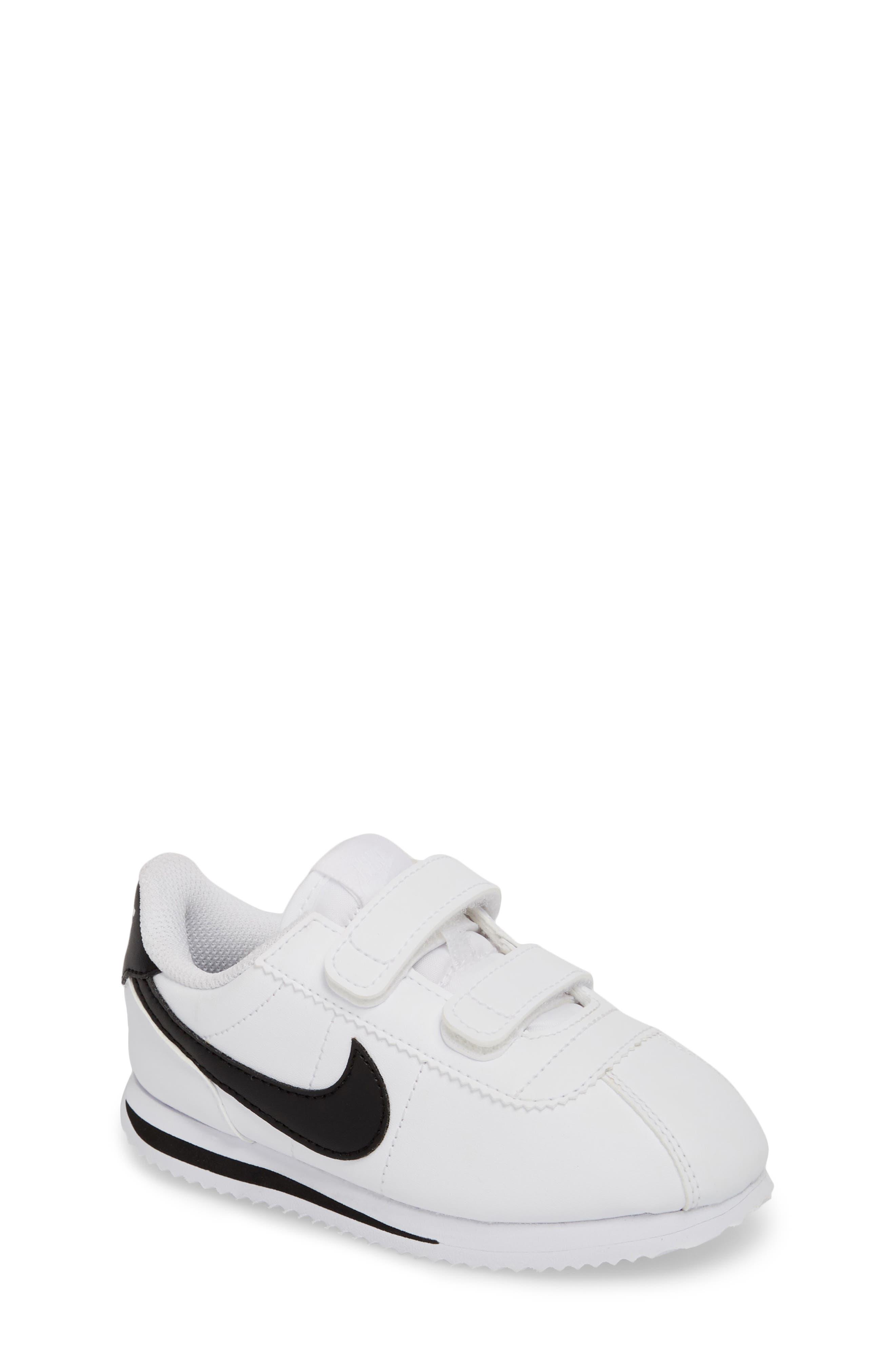Cortez Basic SL Sneaker,                         Main,                         color, WHITE/ BLACK