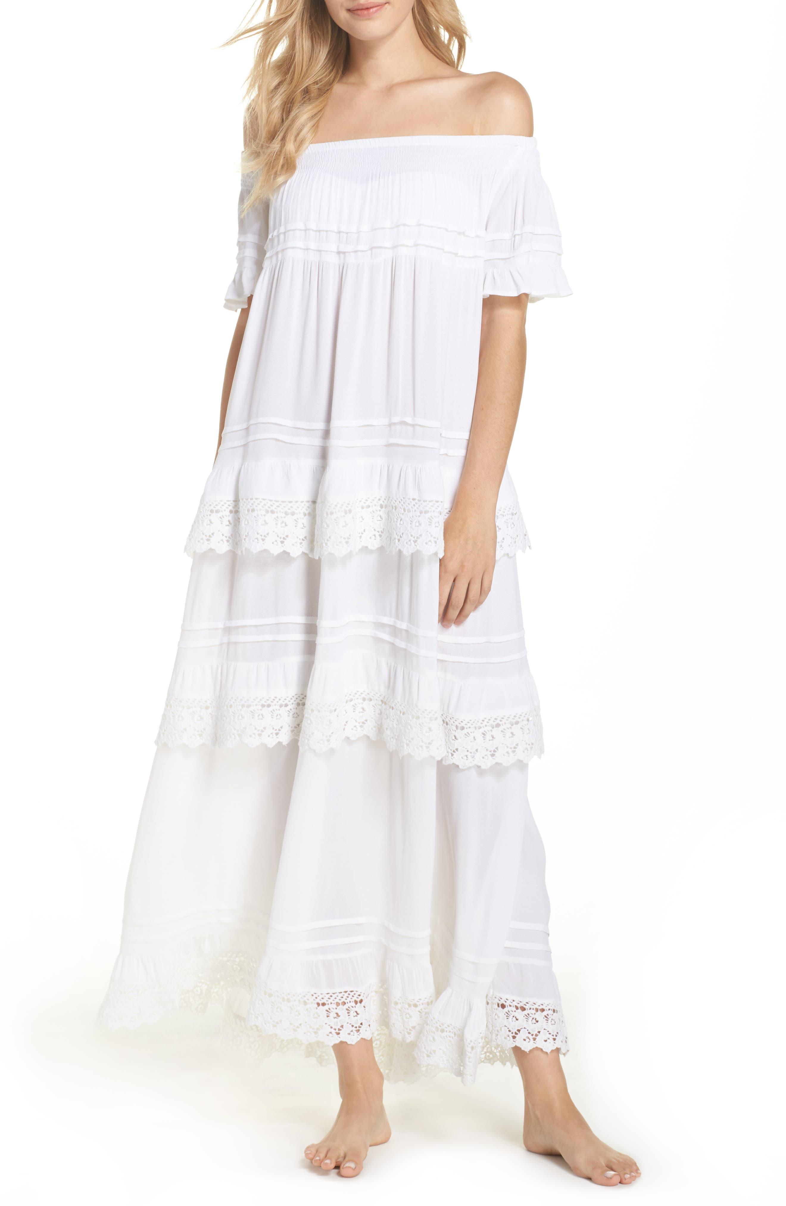 Esmerelda Off the Shoulder Cover-Up Maxi Dress,                             Main thumbnail 2, color,