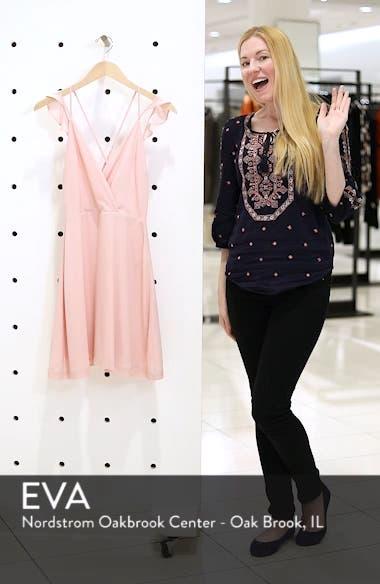 Strappy Surplice Mini Dress, sales video thumbnail