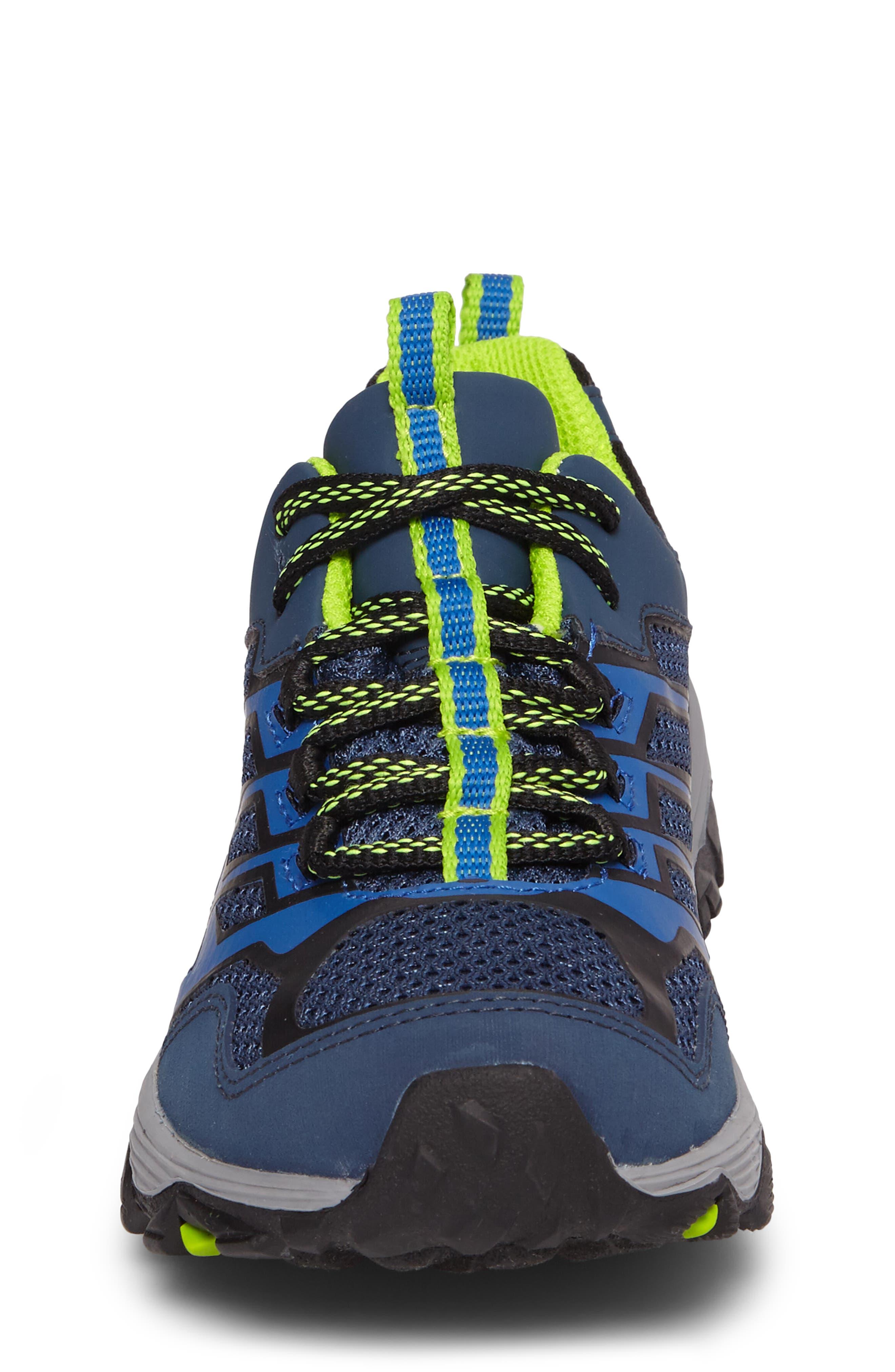 Moab FST Polar Low Waterproof Sneaker,                             Alternate thumbnail 4, color,                             NAVY/ BLUE