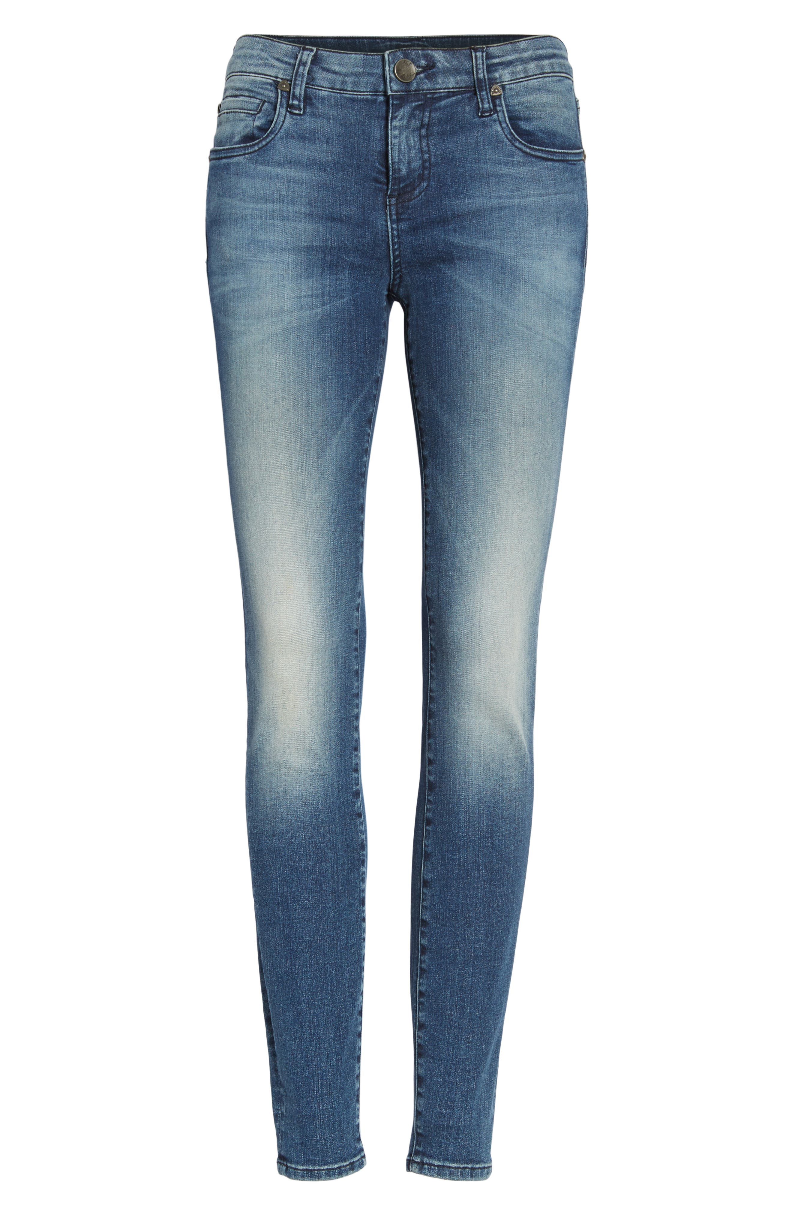 Donna High Waist Ankle Skinny Jeans,                             Alternate thumbnail 6, color,