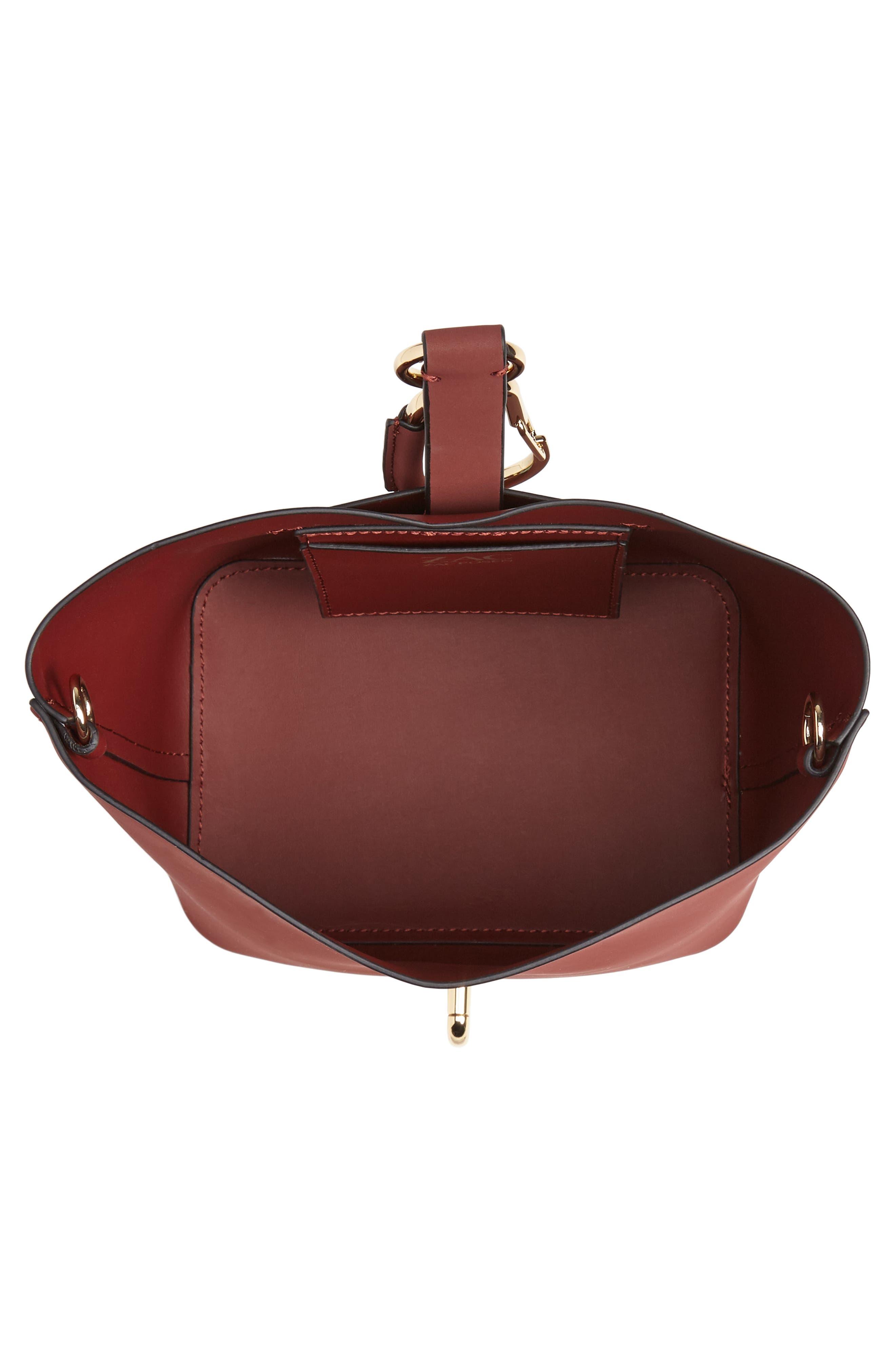 Small Belay Leather Hobo Bag,                             Alternate thumbnail 4, color,                             SMOKED MERLOT