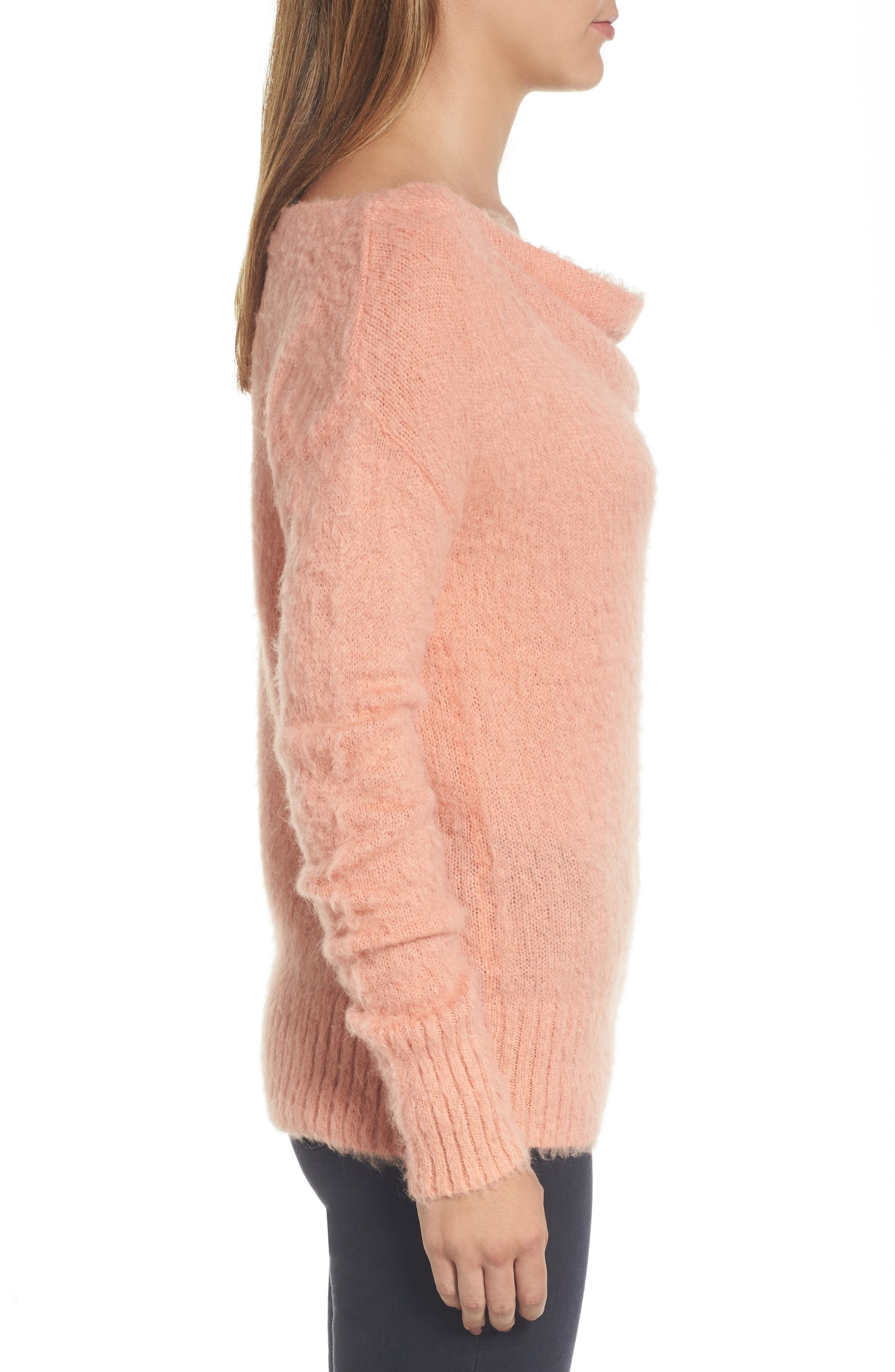 Long Sleeve Brushed Sweater,                             Alternate thumbnail 18, color,