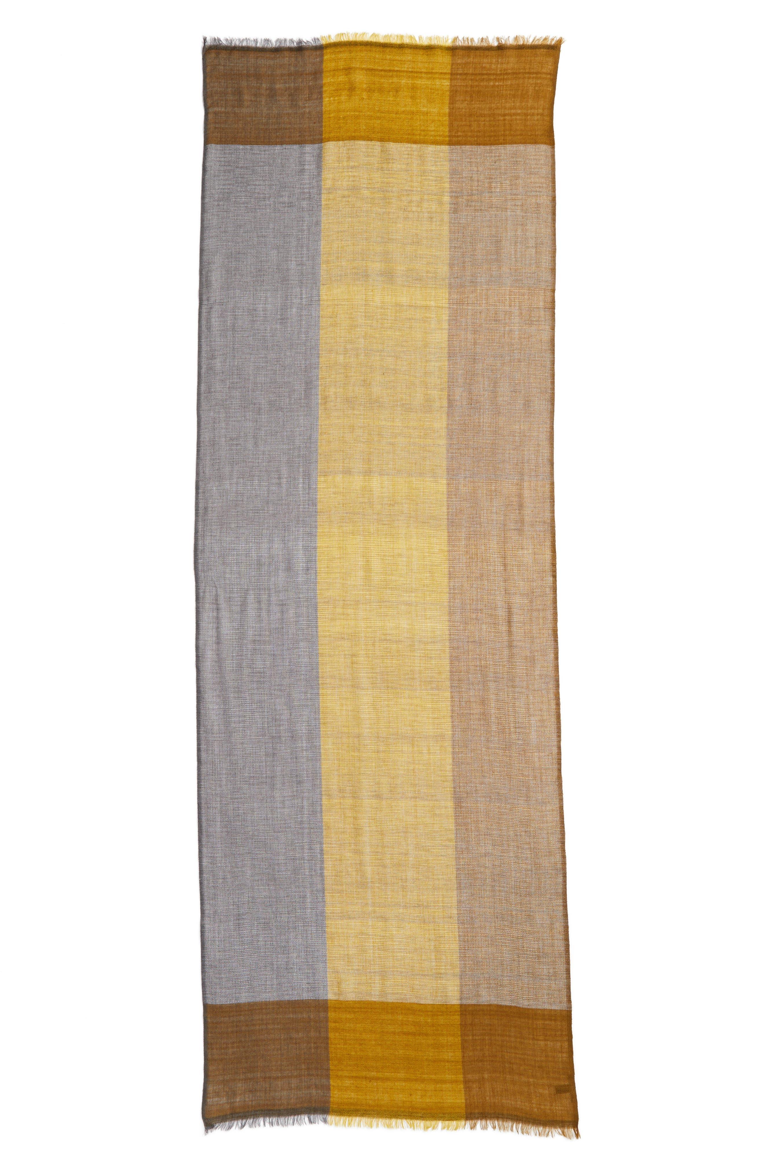 Colorblock Wool & Silk Scarf,                             Alternate thumbnail 9, color,