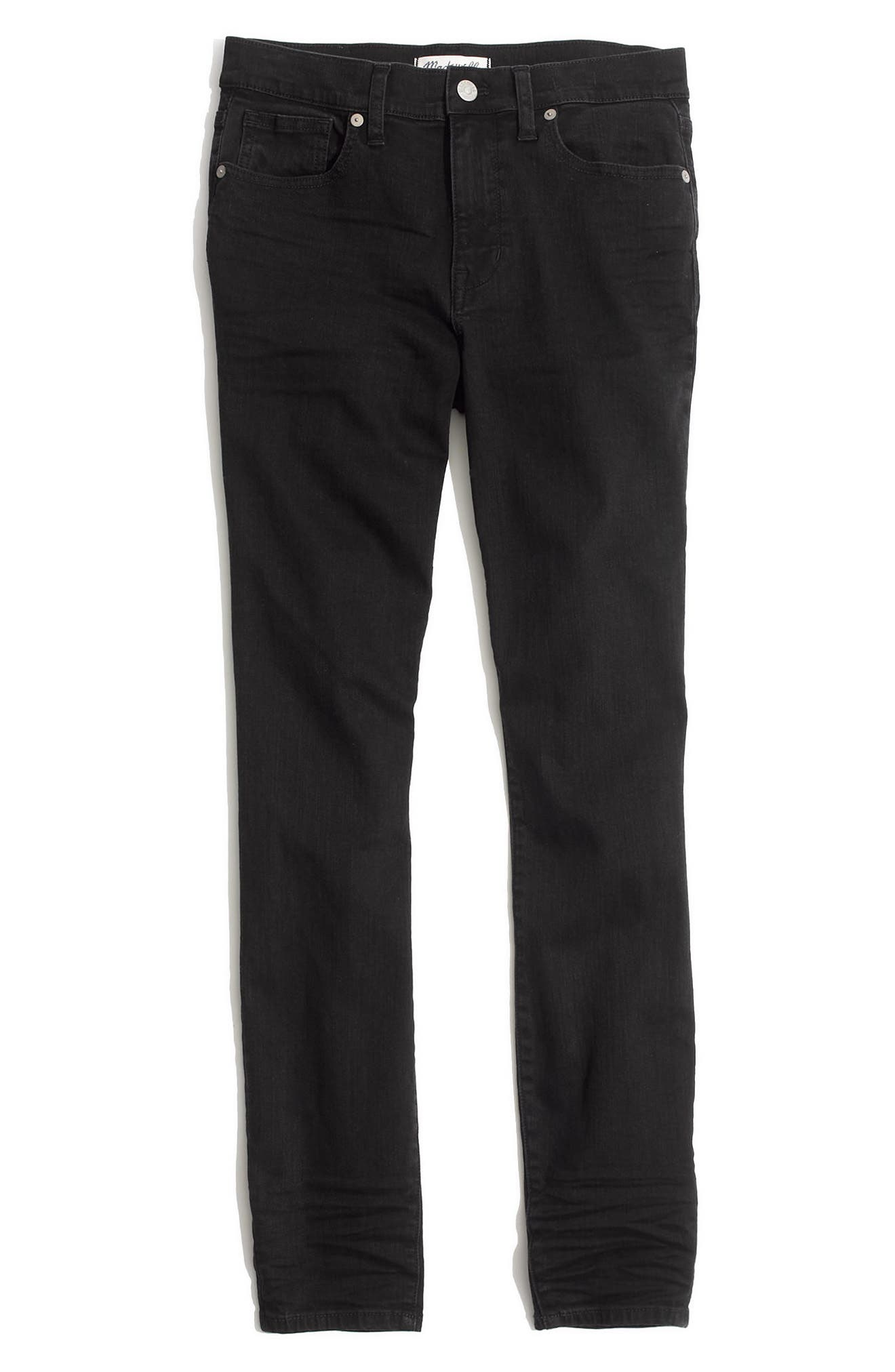 9-Inch High Rise Skinny Jeans,                             Alternate thumbnail 3, color,                             LUNAR