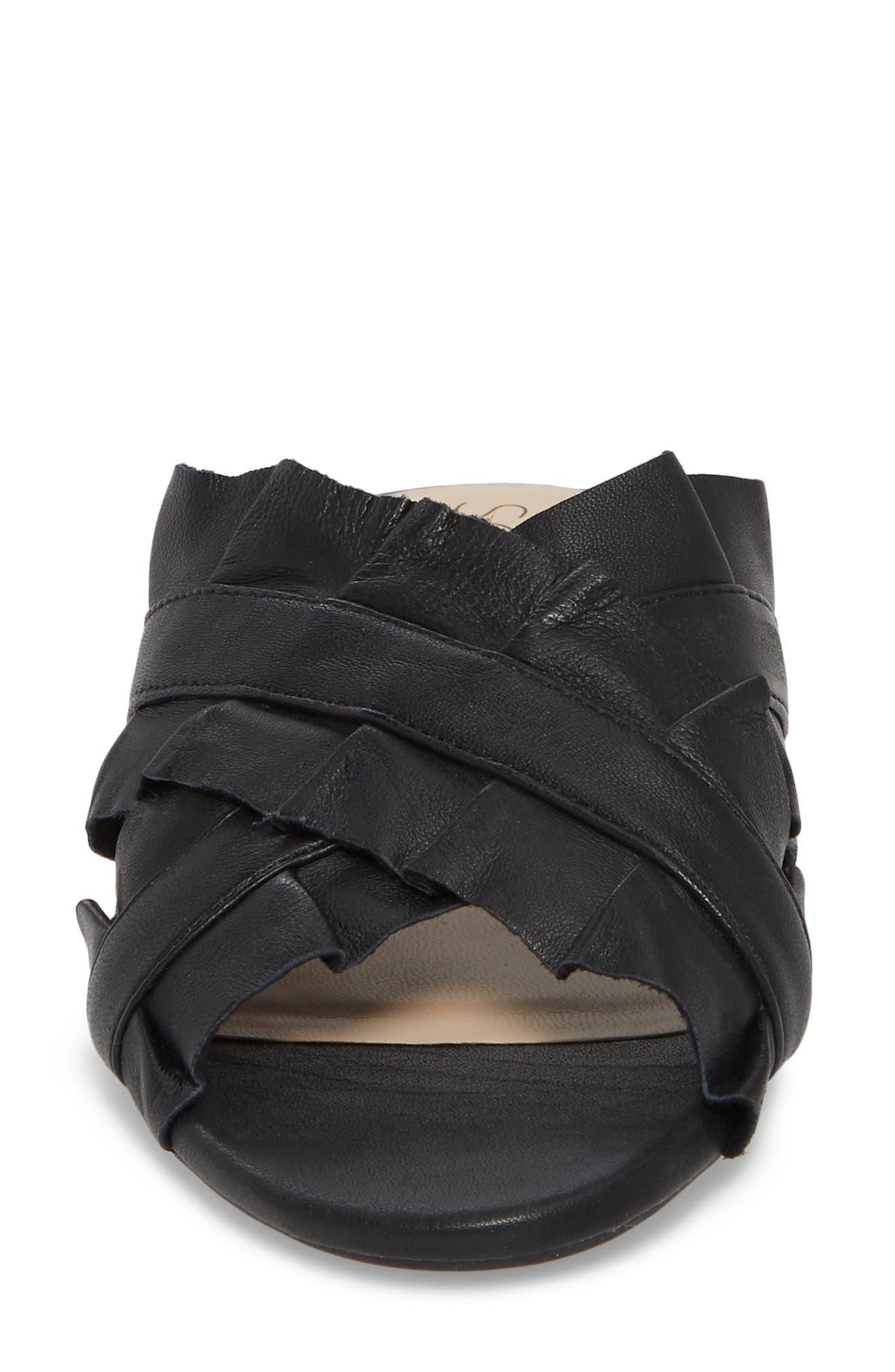 SOLE SOCIETY,                             Mandi Slide Sandal,                             Alternate thumbnail 4, color,                             BLACK