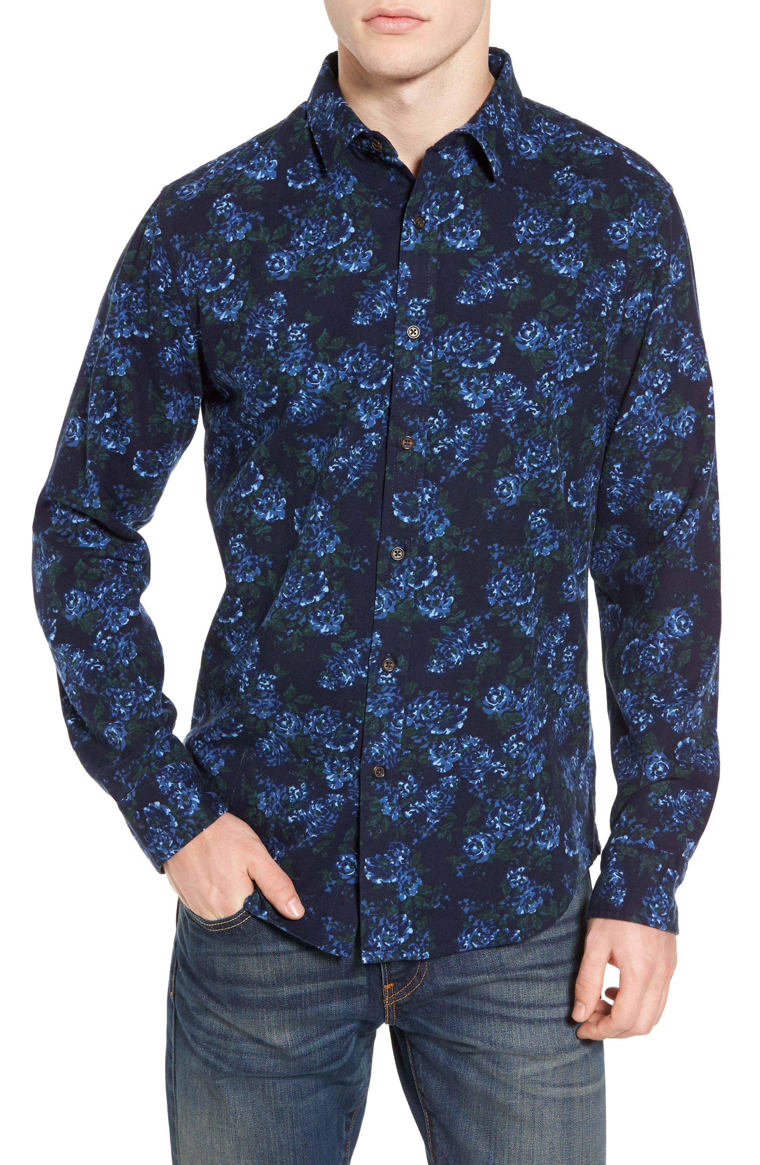 Print Flannel Shirt,                             Main thumbnail 3, color,