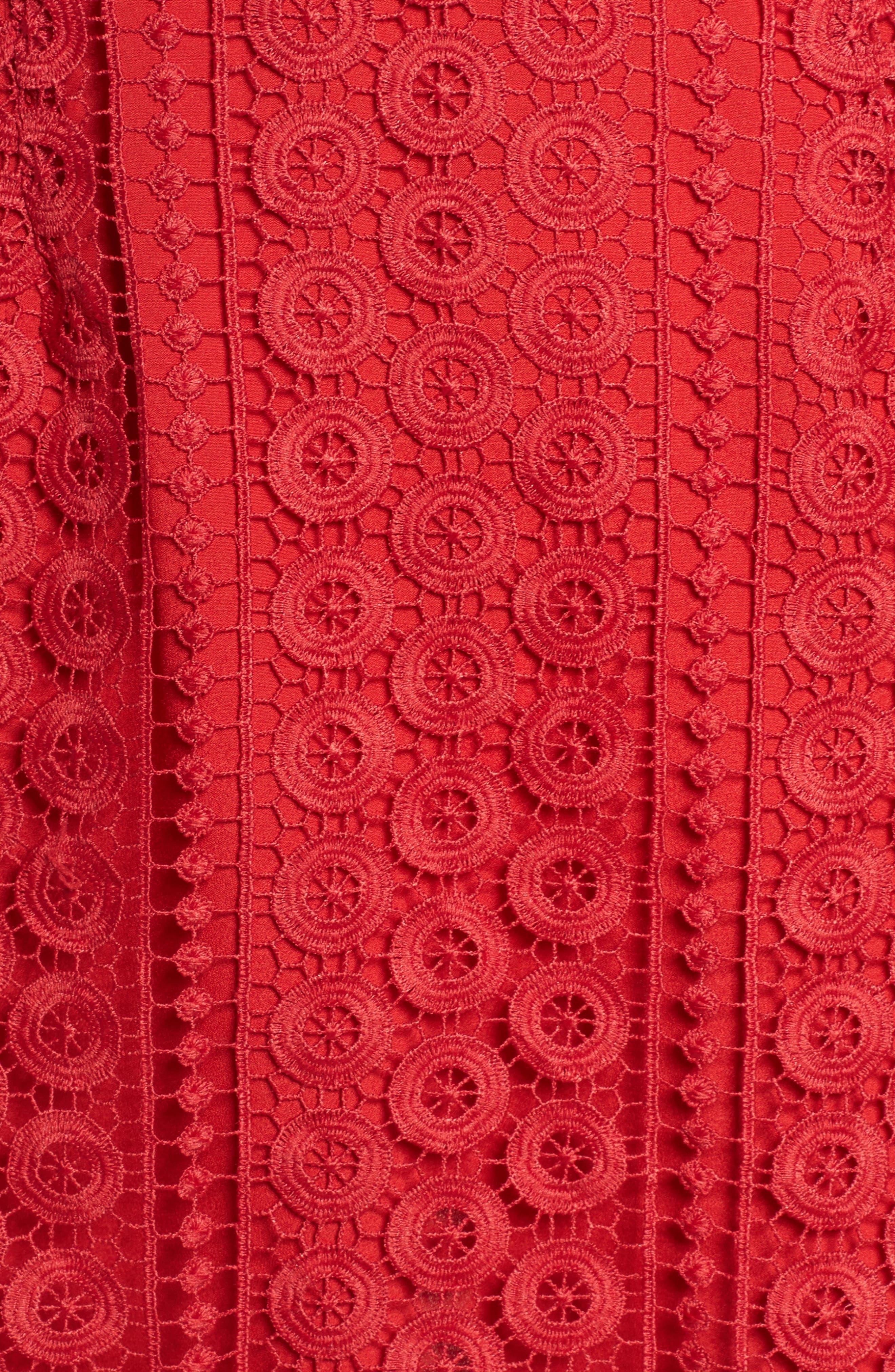 Massey Lace Cold Shoulder Minidress,                             Alternate thumbnail 5, color,                             625