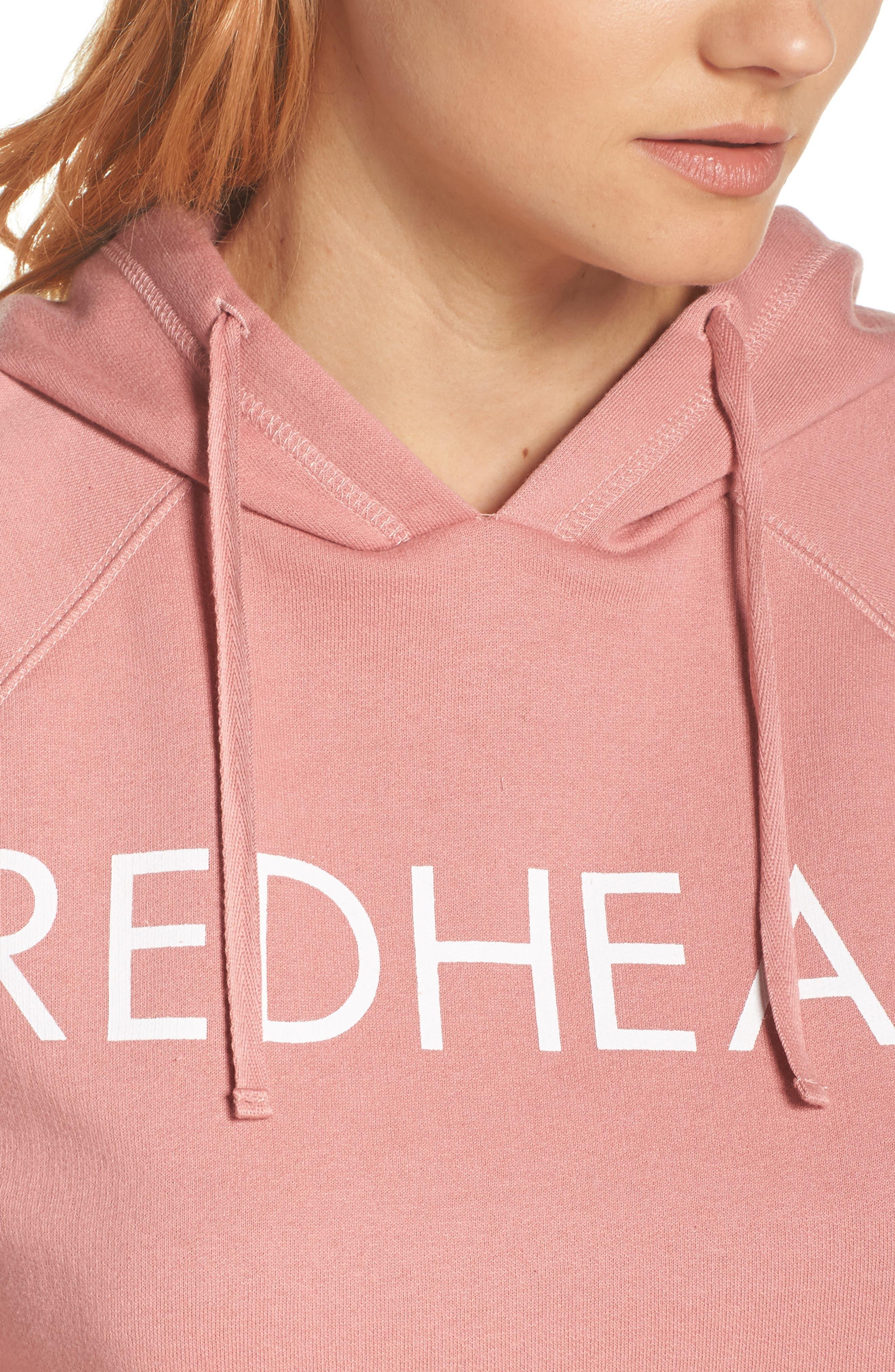 Redhead Raw Hem Hoodie,                             Alternate thumbnail 4, color,                             953