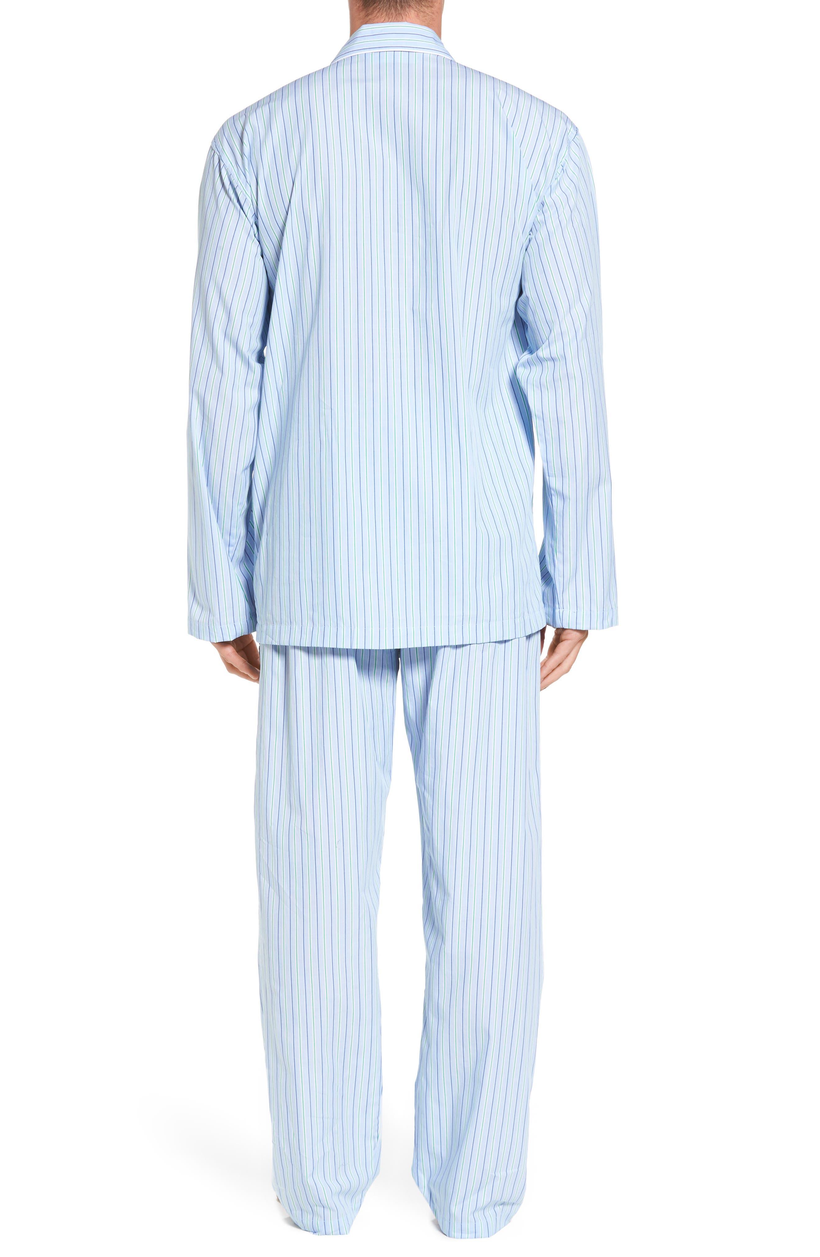 Cotton Pajama Top,                             Alternate thumbnail 2, color,                             BARI STRIPE