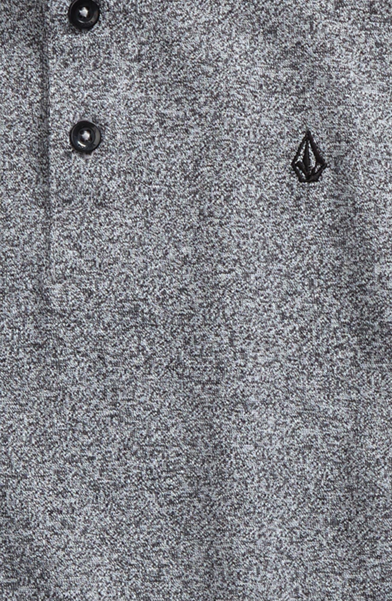 Wowzer Layered Long Sleeve Polo,                             Alternate thumbnail 3, color,