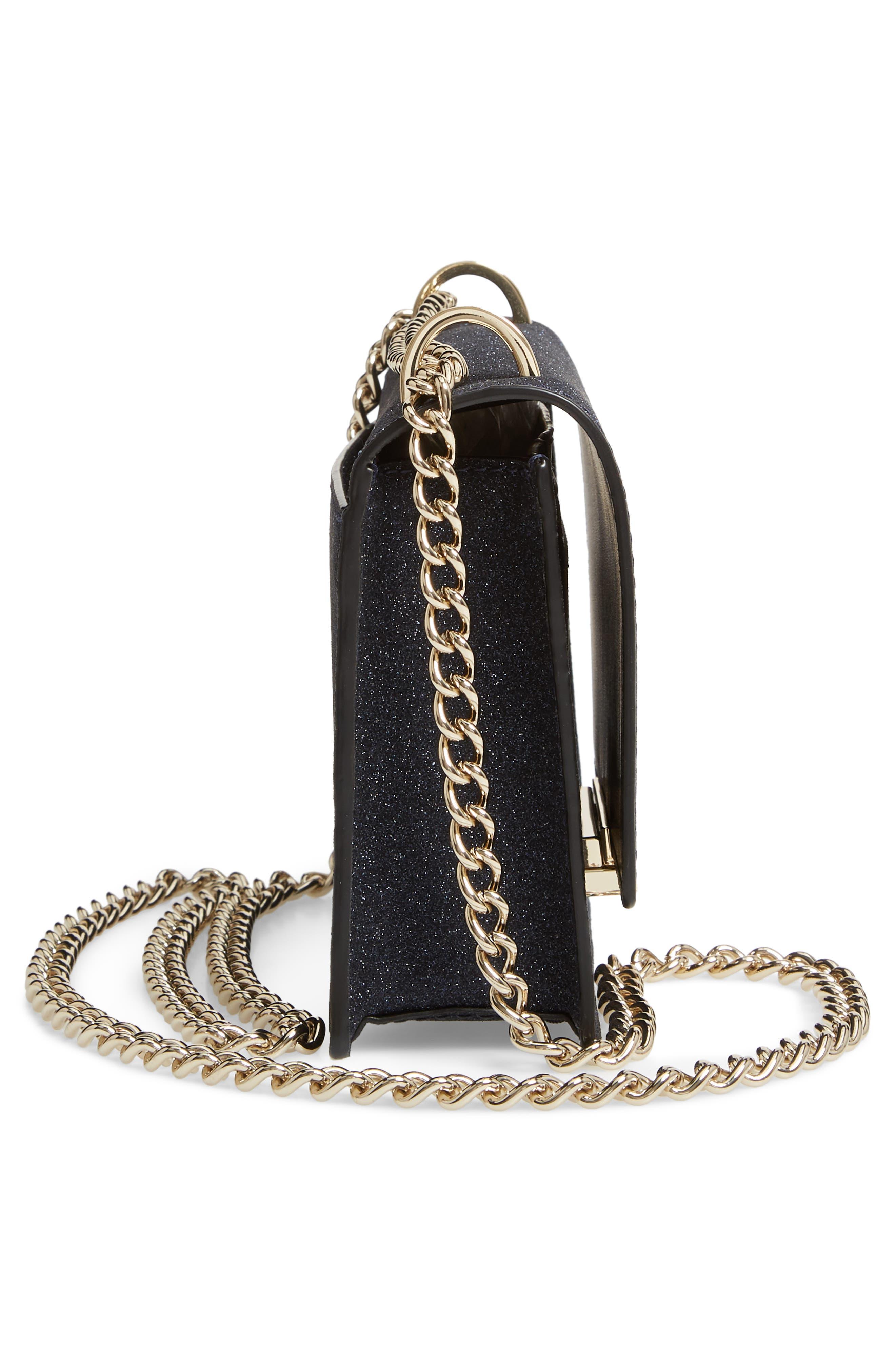 burgess court - hazel glitter crossbody bag,                             Alternate thumbnail 5, color,                             400