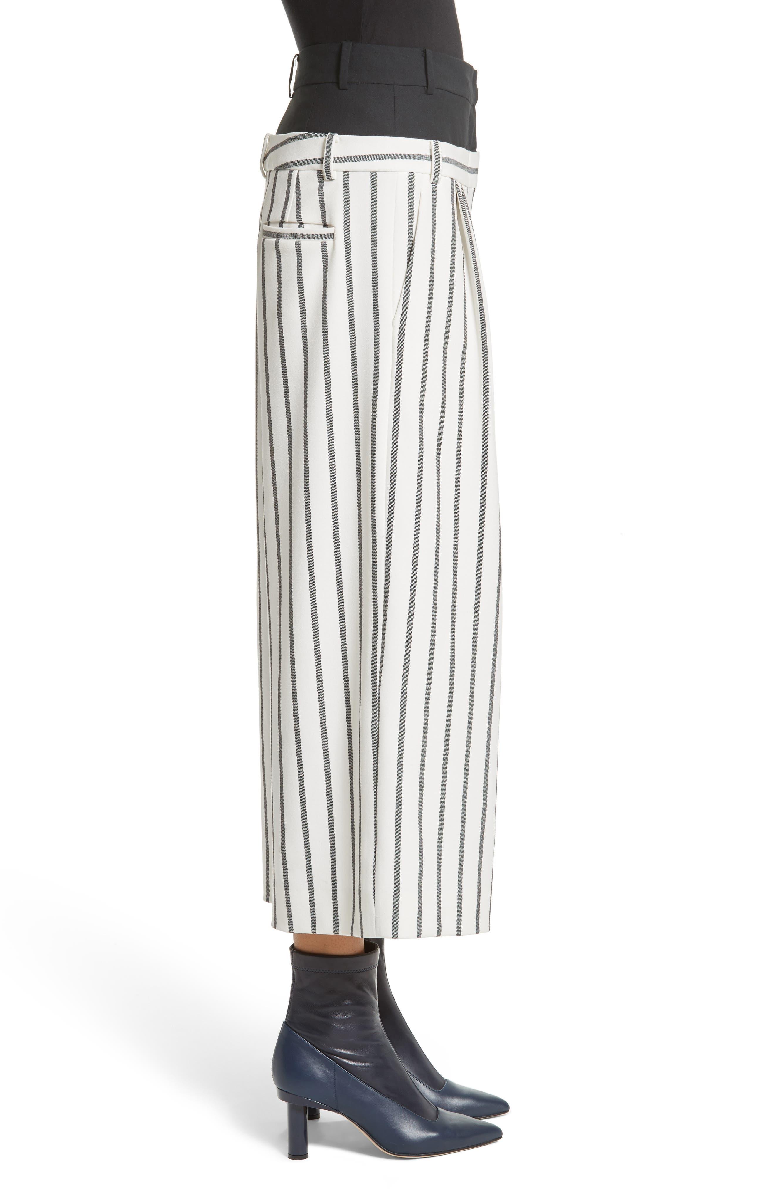 Lucci Stripe Crop Wide Leg Pants,                             Alternate thumbnail 3, color,                             907