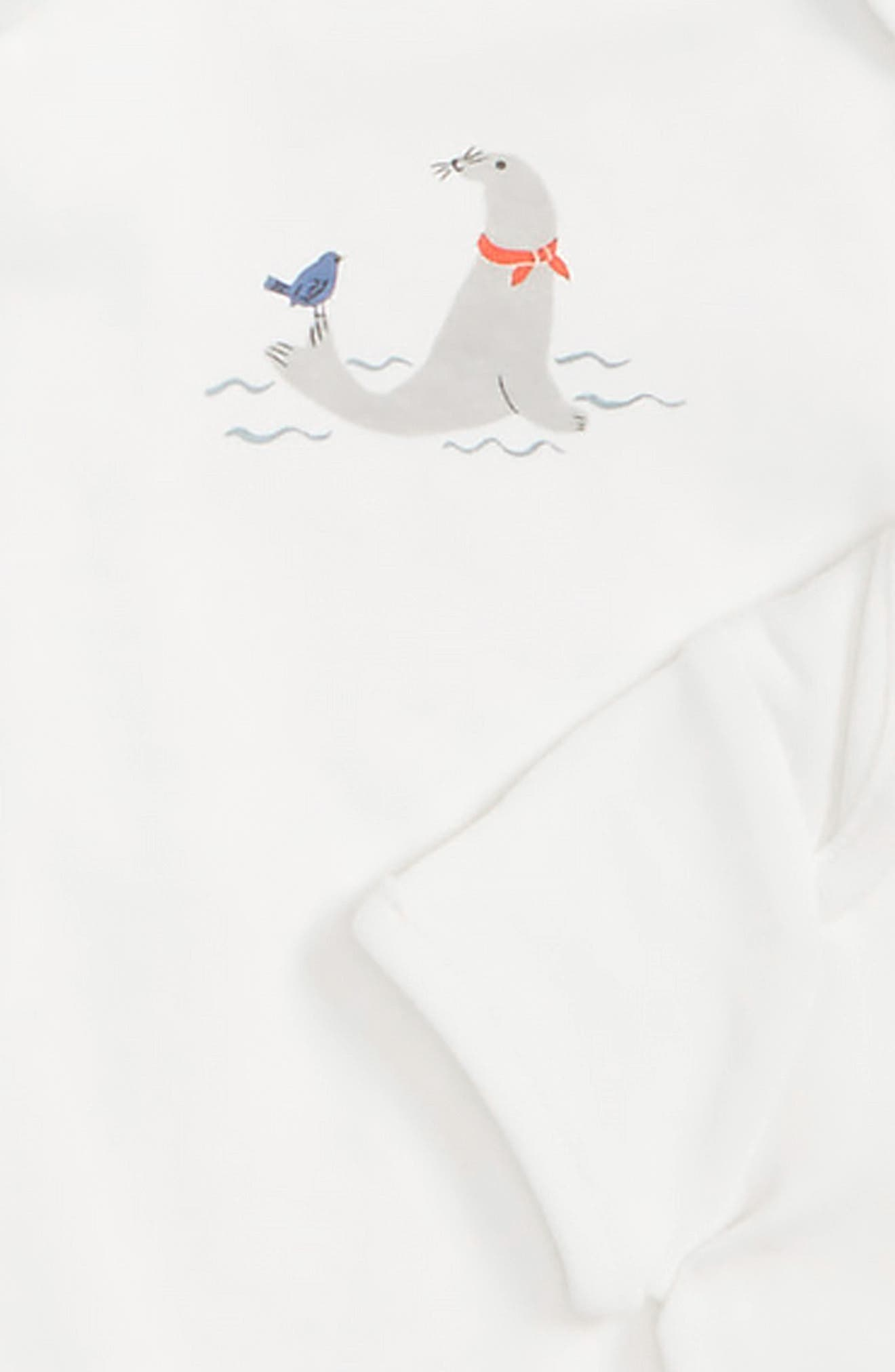 Seals 5-Pack Organic Cotton Bodysuits,                             Alternate thumbnail 2, color,                             904