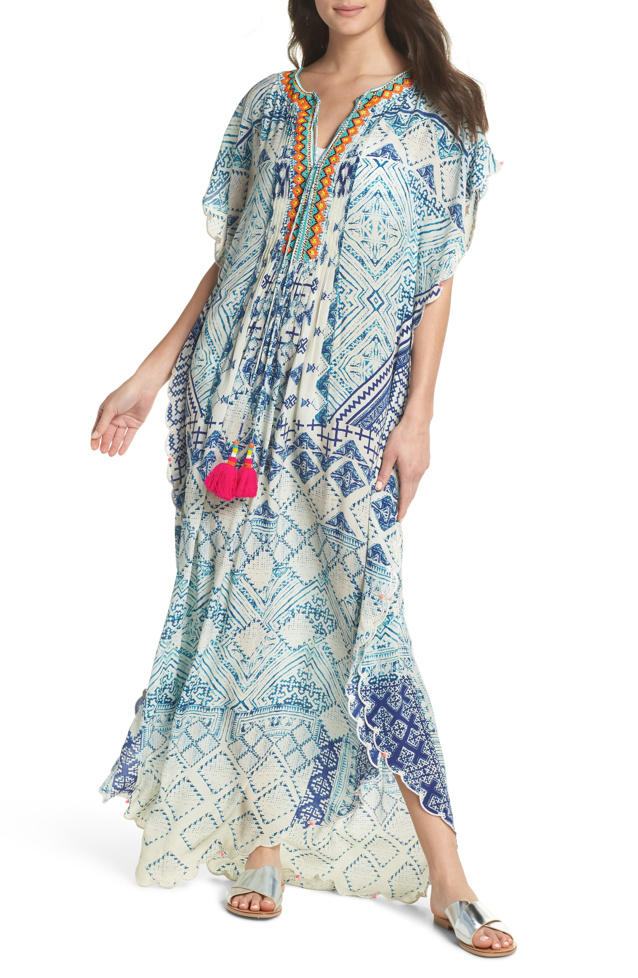 Hemant & Nandita Cover-Up Caftan,                             Main thumbnail 1, color,                             405