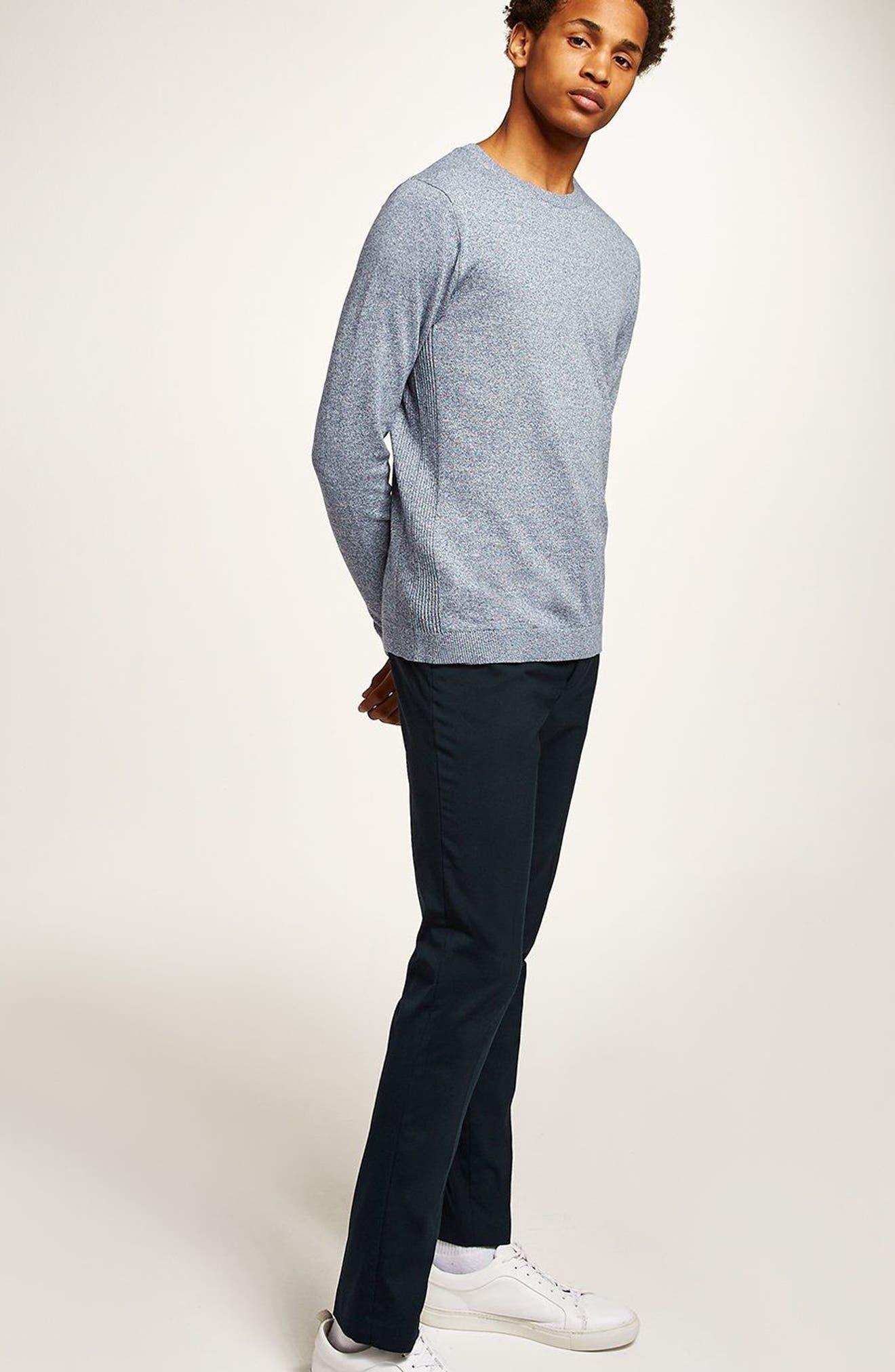 Side Rib Cotton Sweater,                             Alternate thumbnail 17, color,
