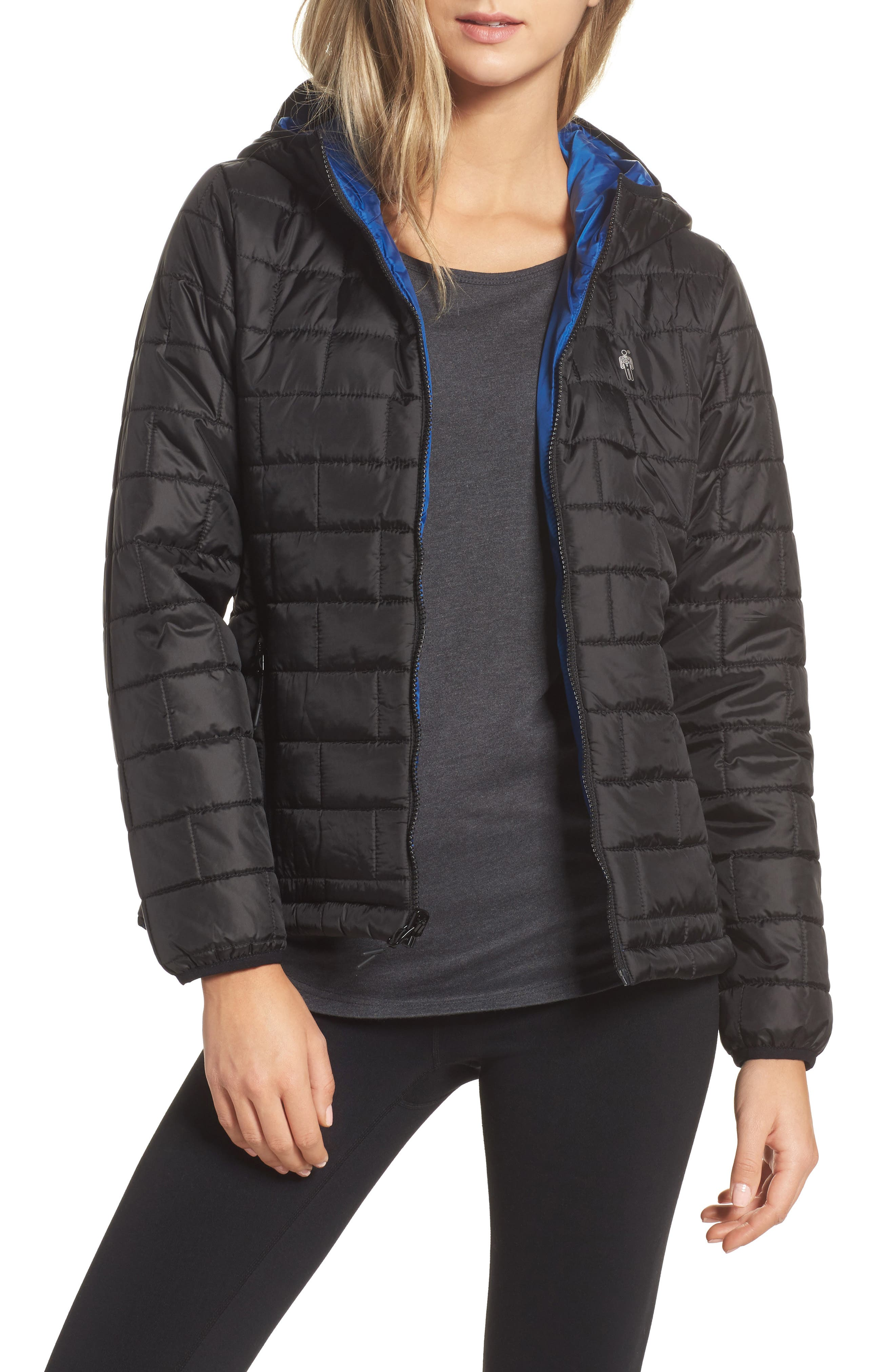 Highland Reversible Water-Resistant & Windproof Quilted Puffer Jacket,                         Main,                         color,