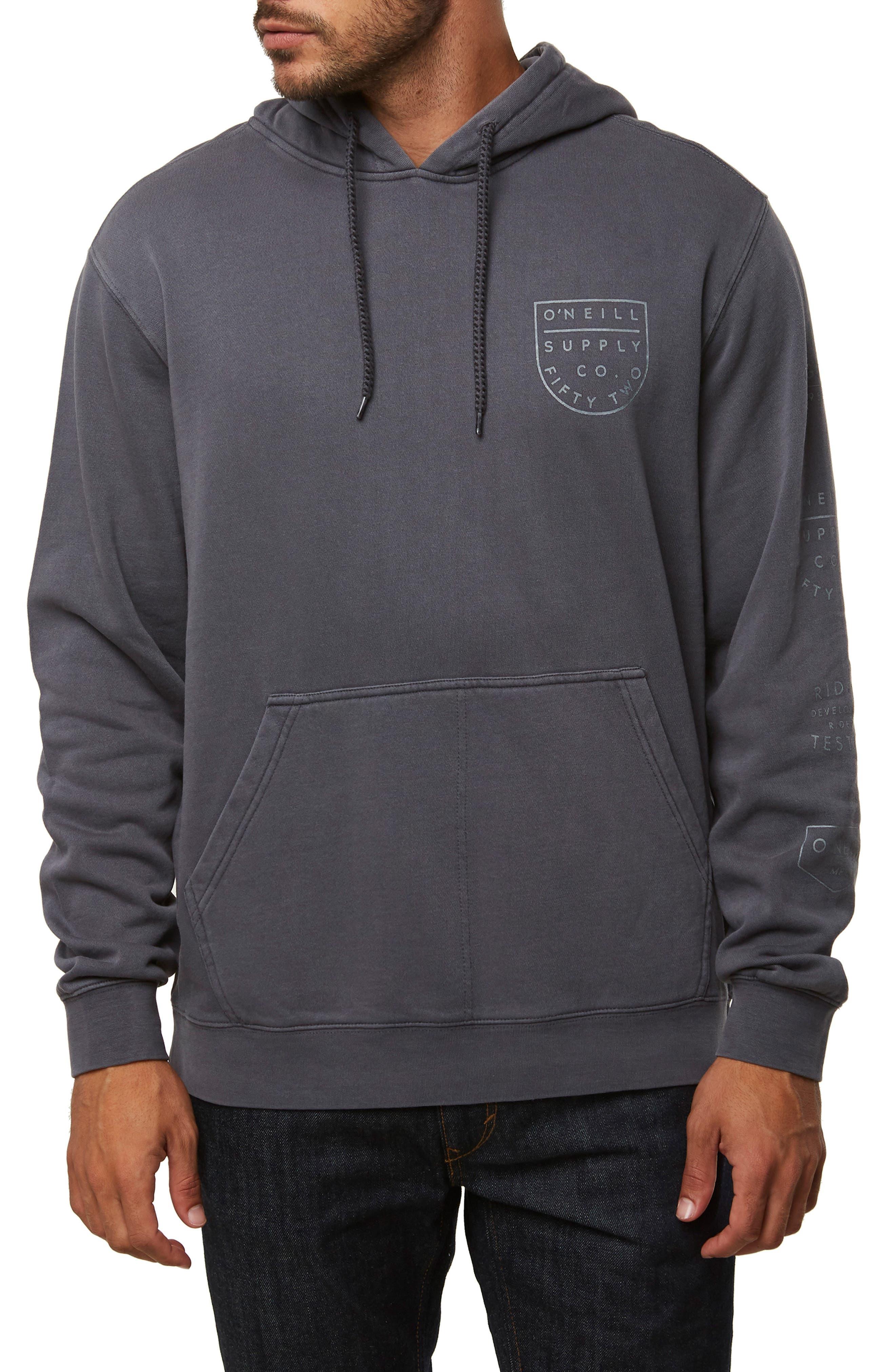 Nopales Hooded Sweatshirt,                         Main,                         color, ASPHALT
