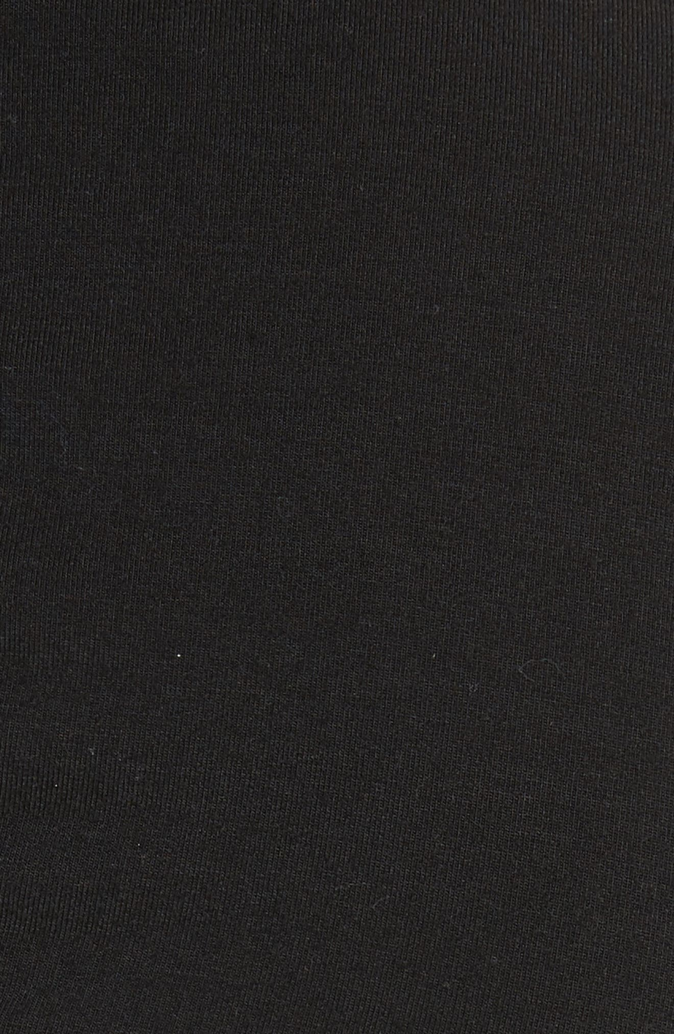 Cutout Stretch Jersey Dress,                             Alternate thumbnail 5, color,                             001