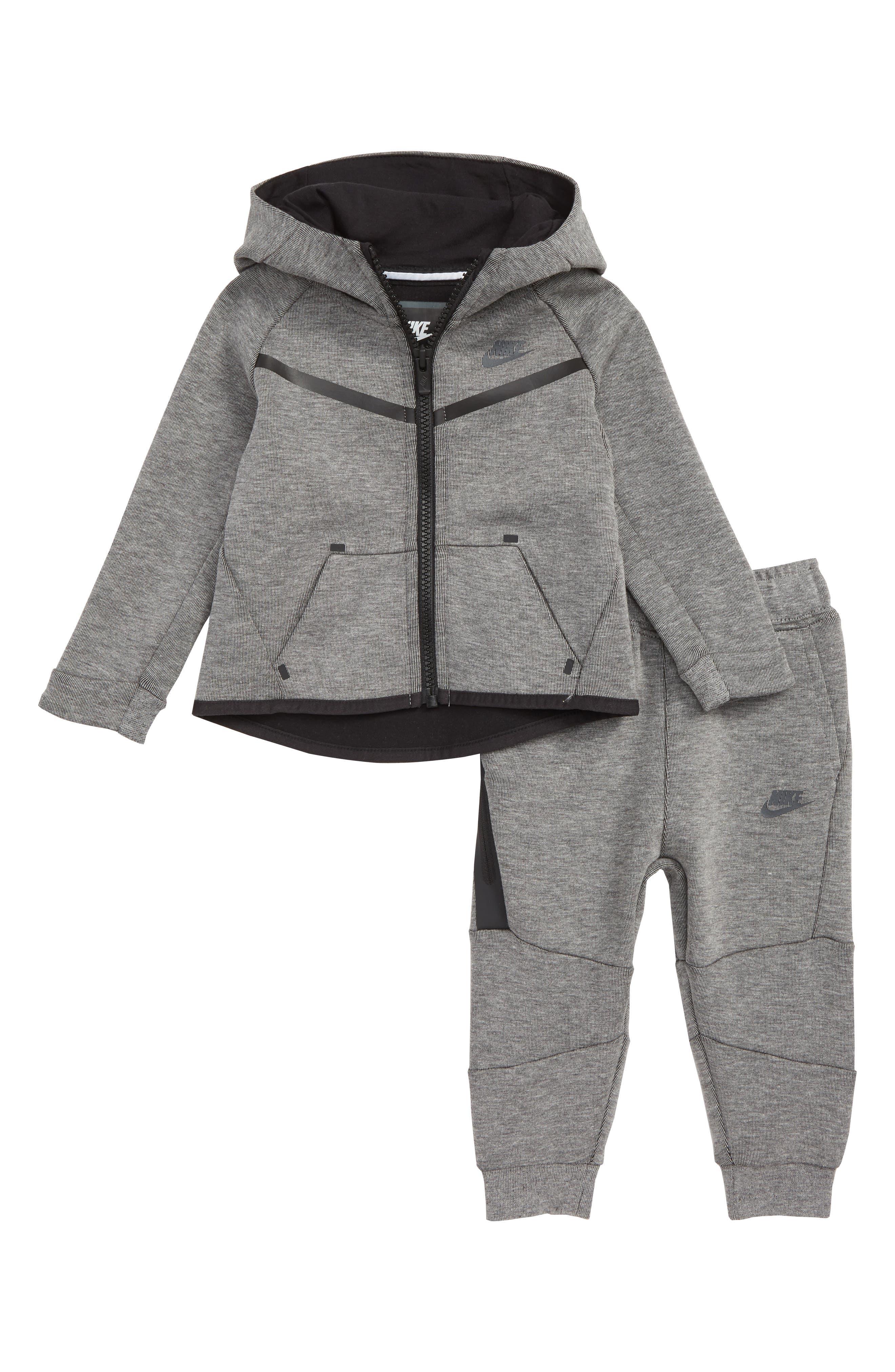 NIKE Tech Fleece Hoodie & Pants Set, Main, color, CARBON HEATHER/ ANTHRACITE