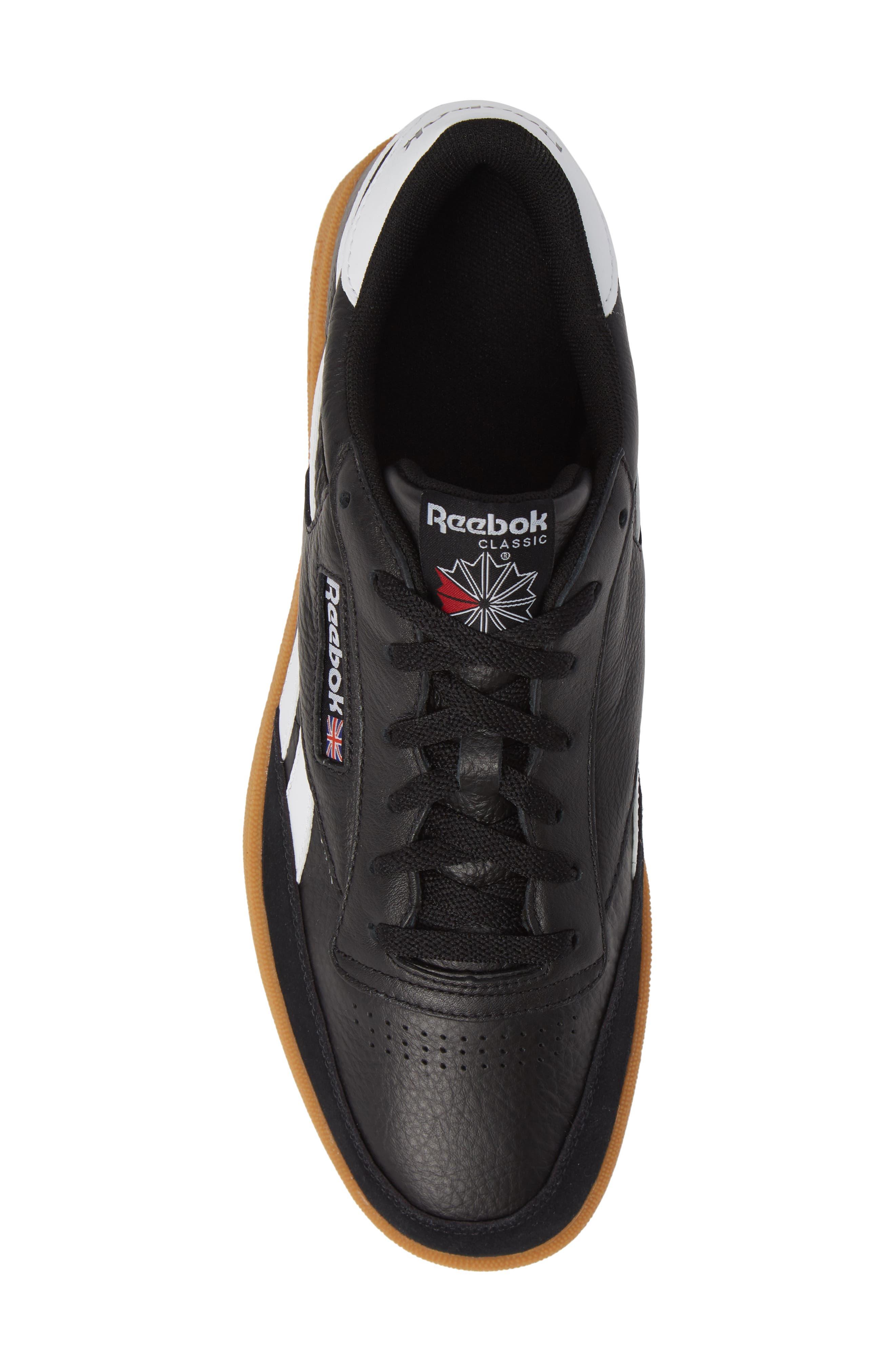 Revenge Plus Sneaker,                             Alternate thumbnail 5, color,                             BLACK/ WHITE/ GUM