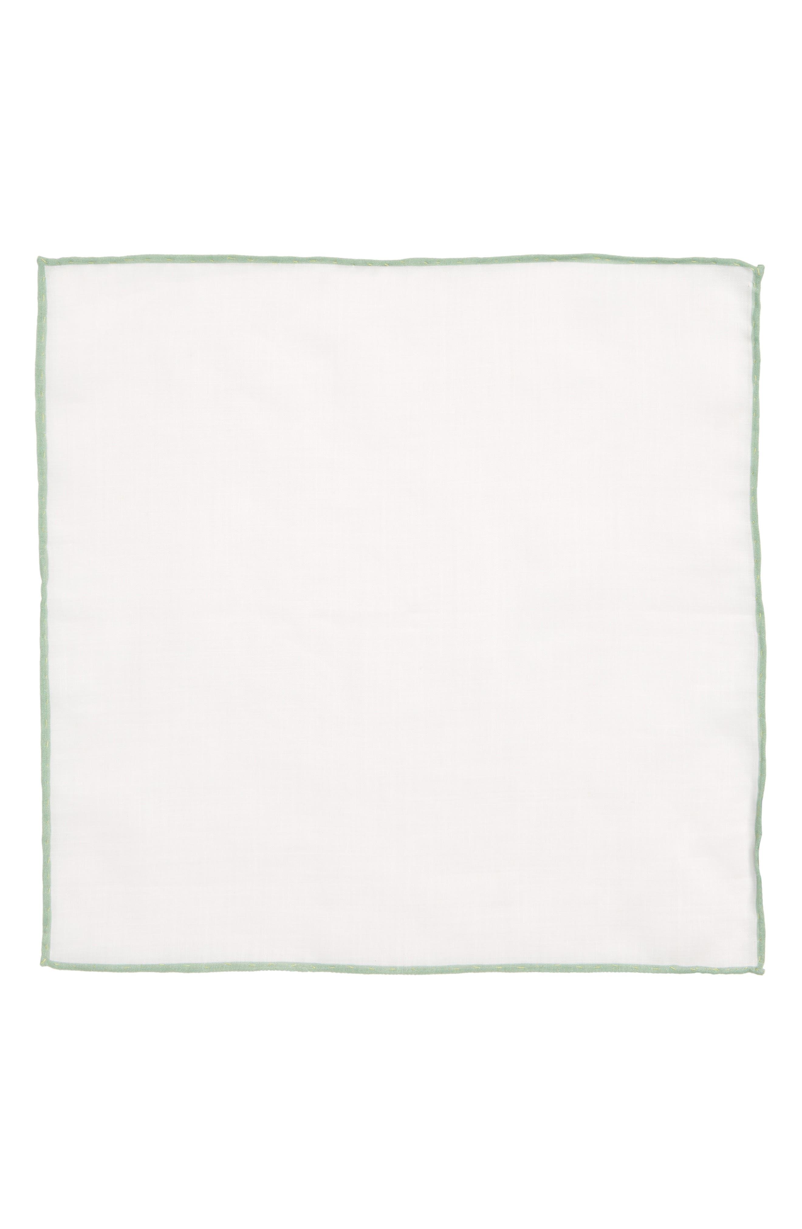 Solid Linen Pocket Square,                             Alternate thumbnail 2, color,                             157