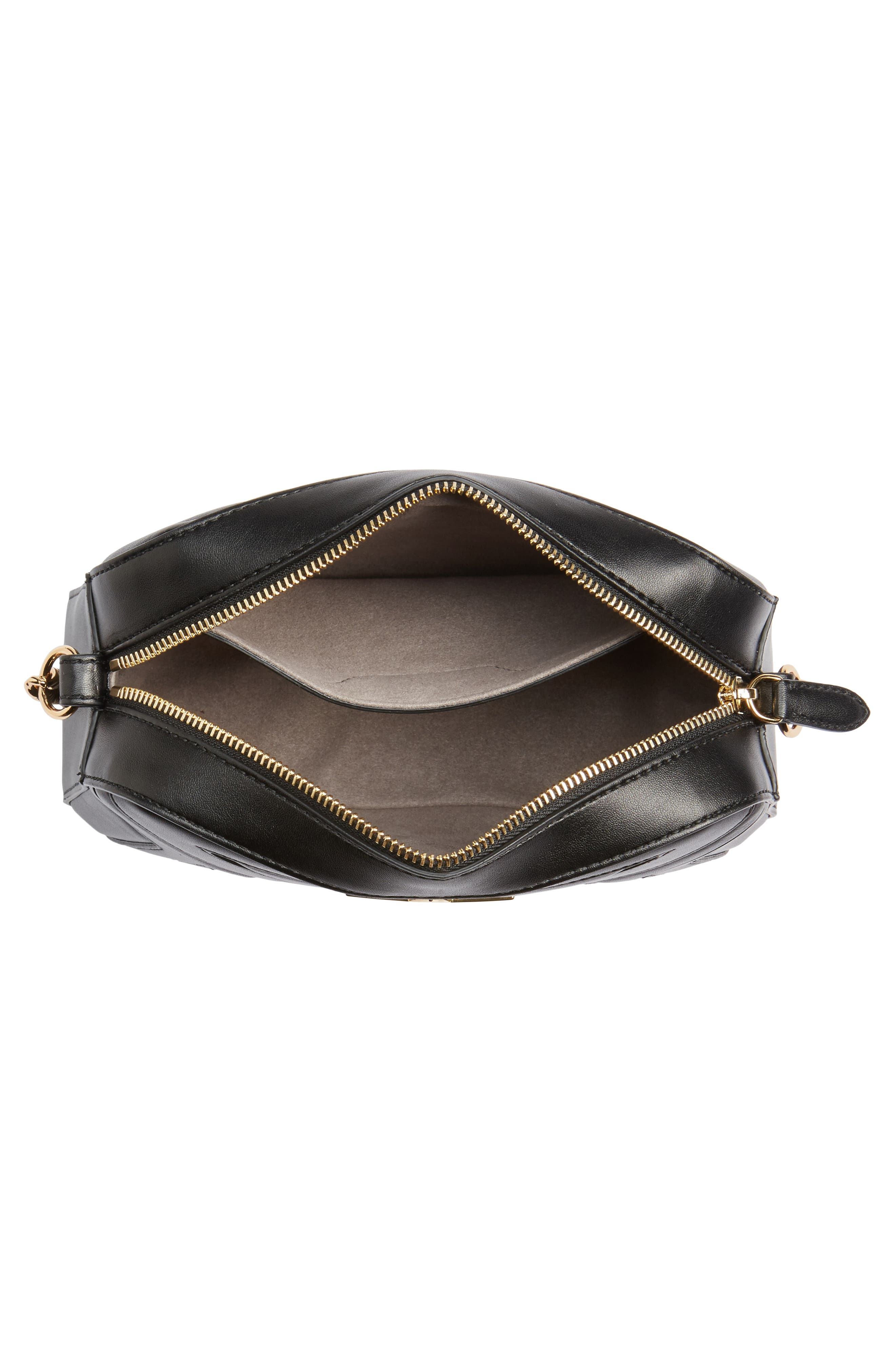 Alter Nappa Faux Leather Shoulder Bag,                             Alternate thumbnail 4, color,                             BLACK