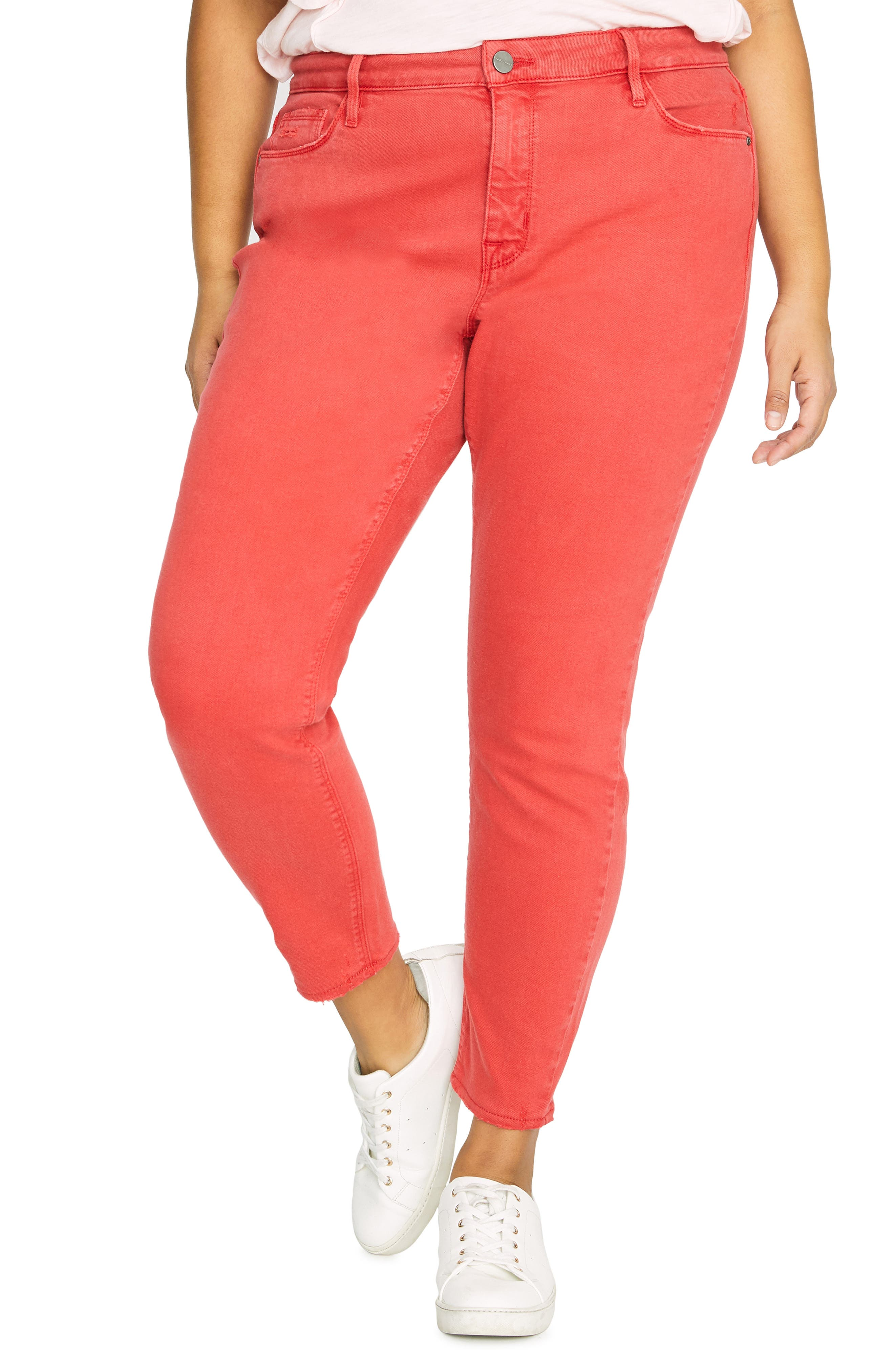 Ankle Skinny Jeans, Main, color, CALIF POPPY