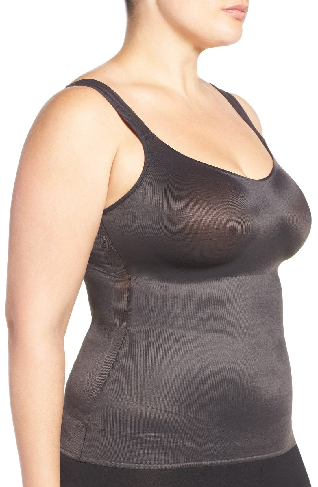 Camisole Shaper,                             Alternate thumbnail 3, color,                             BLACK