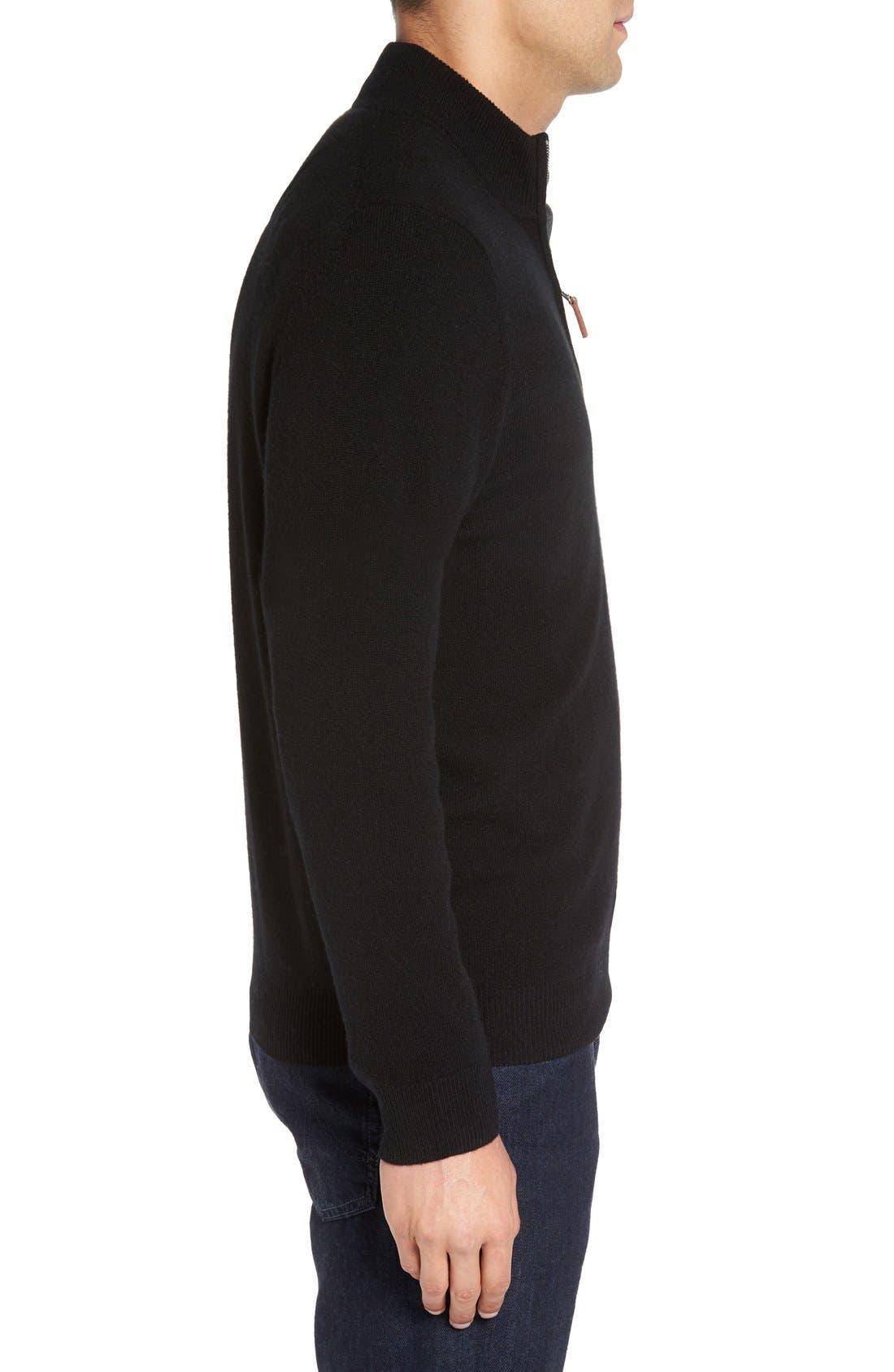 Cashmere Quarter Zip Sweater,                             Alternate thumbnail 14, color,