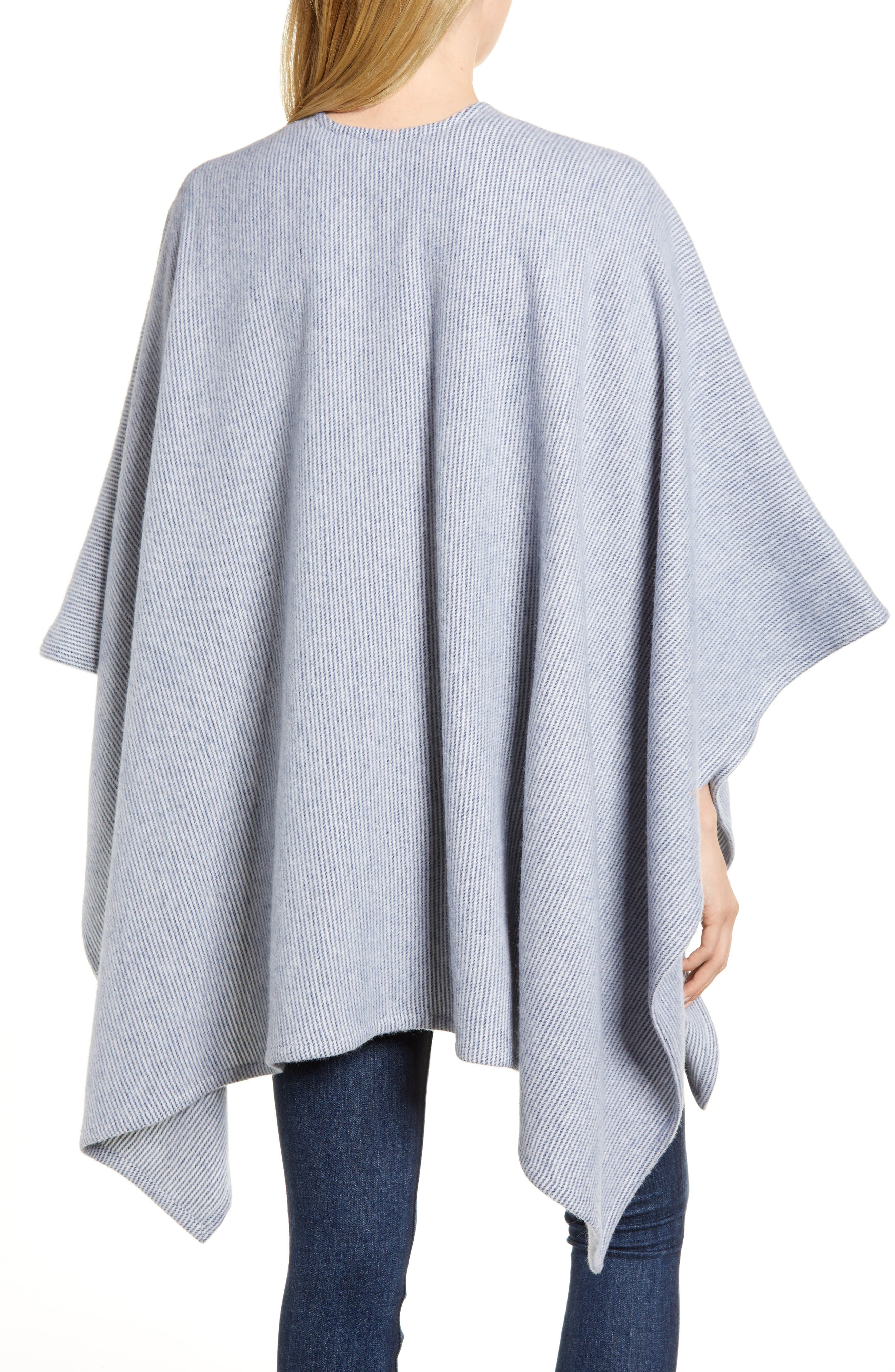 Skinny Stripe Wool Wrap,                             Alternate thumbnail 4, color,