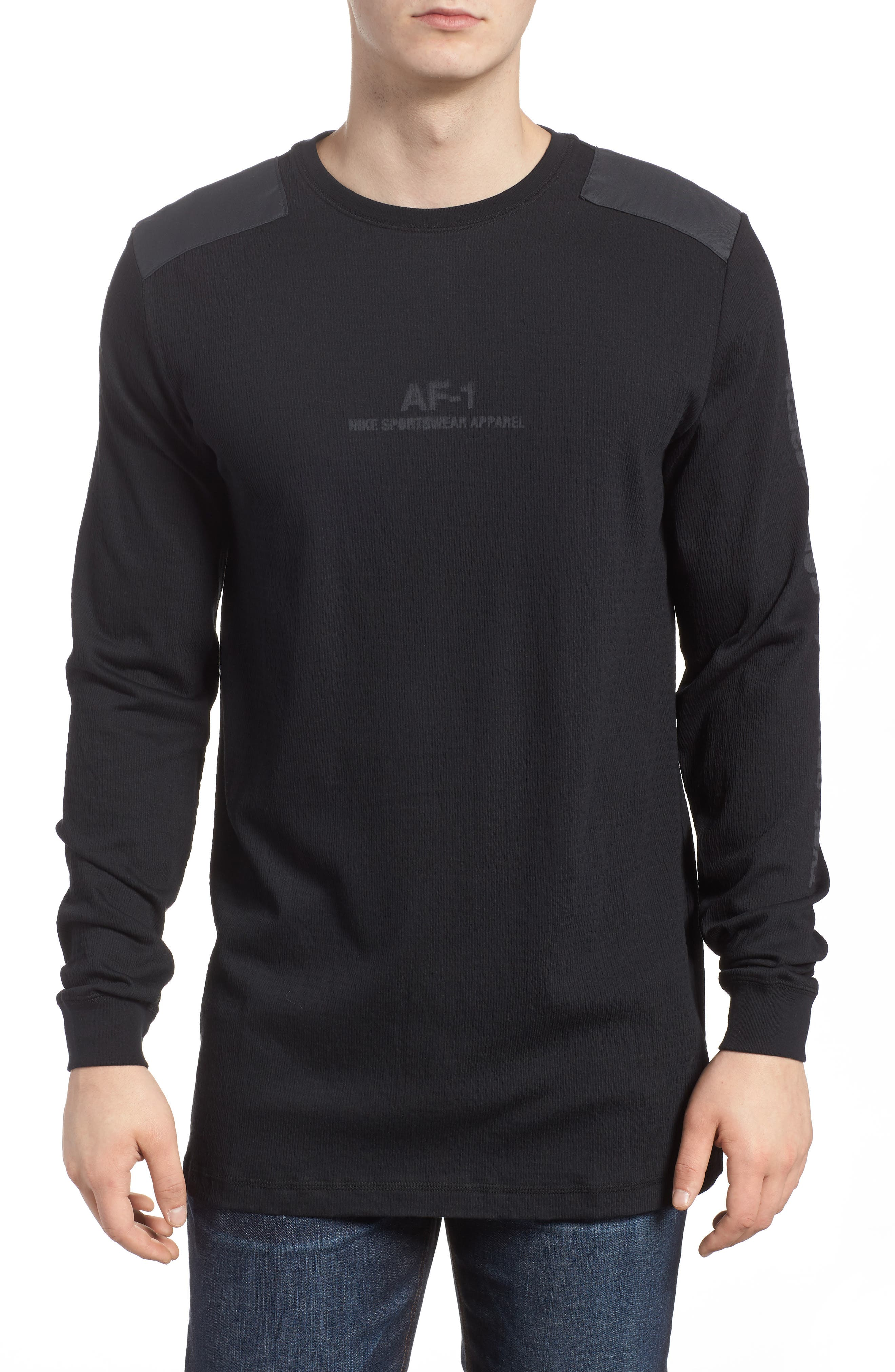 Sportswear AF-1 Long Sleeve Shirt,                             Main thumbnail 1, color,                             010