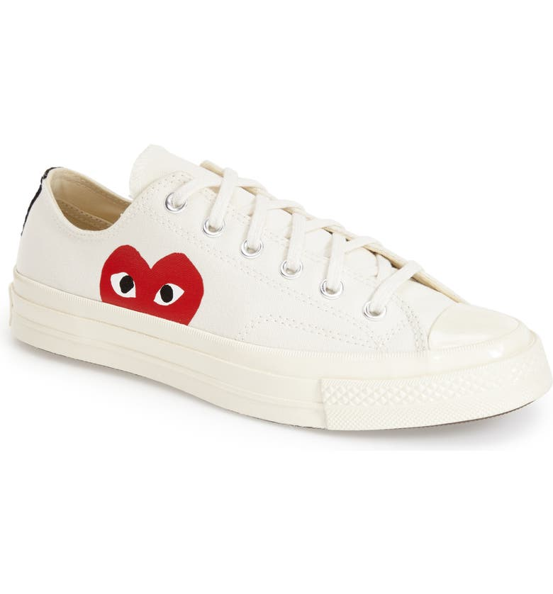 x Converse Chuck Taylor<sup>®</sup> Hidden Heart Low Top Sneaker, Alternate, color, BEIGE