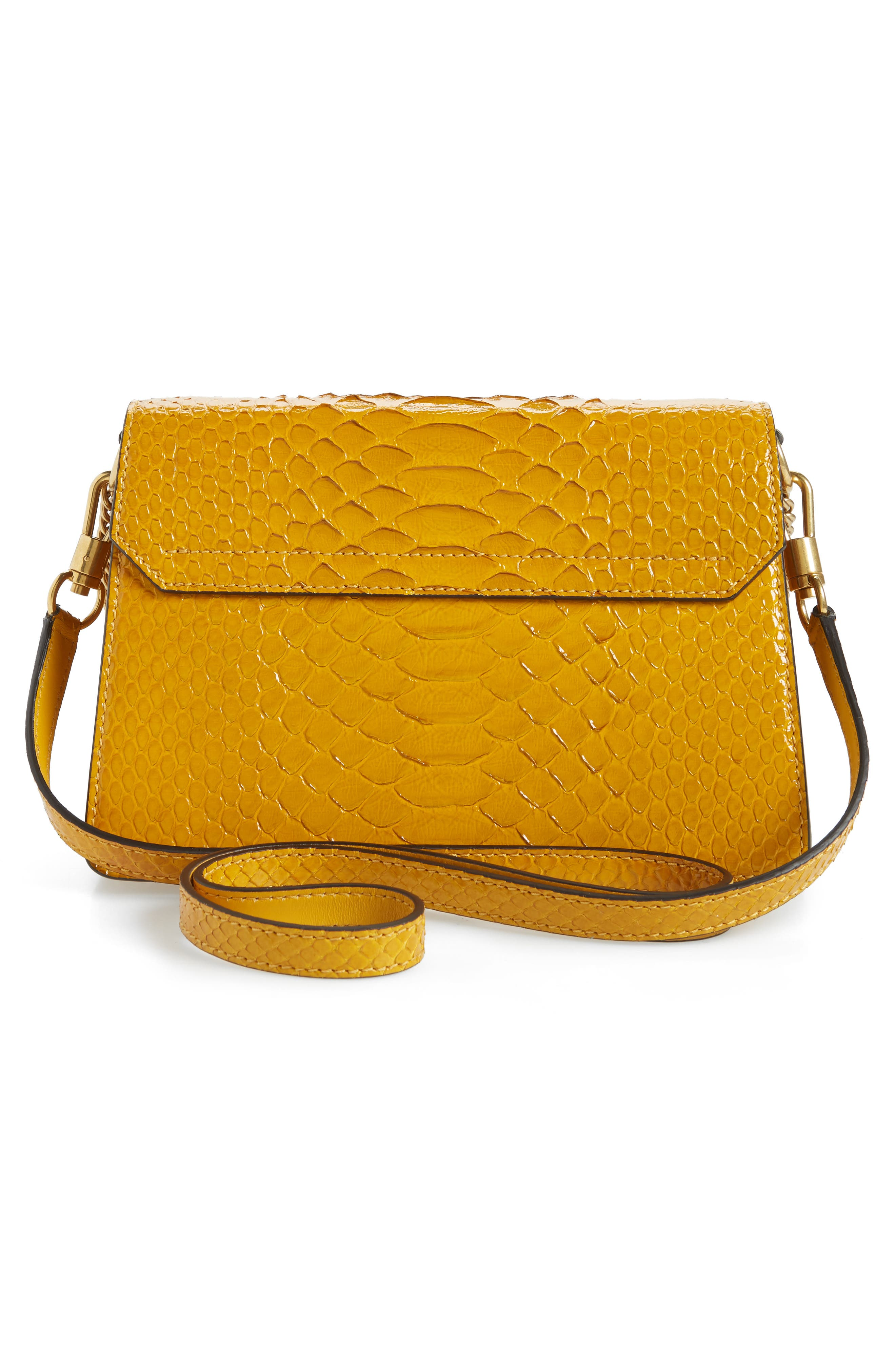 Small GV3 Genuine Python Shoulder Bag,                             Alternate thumbnail 3, color,                             GOLDEN