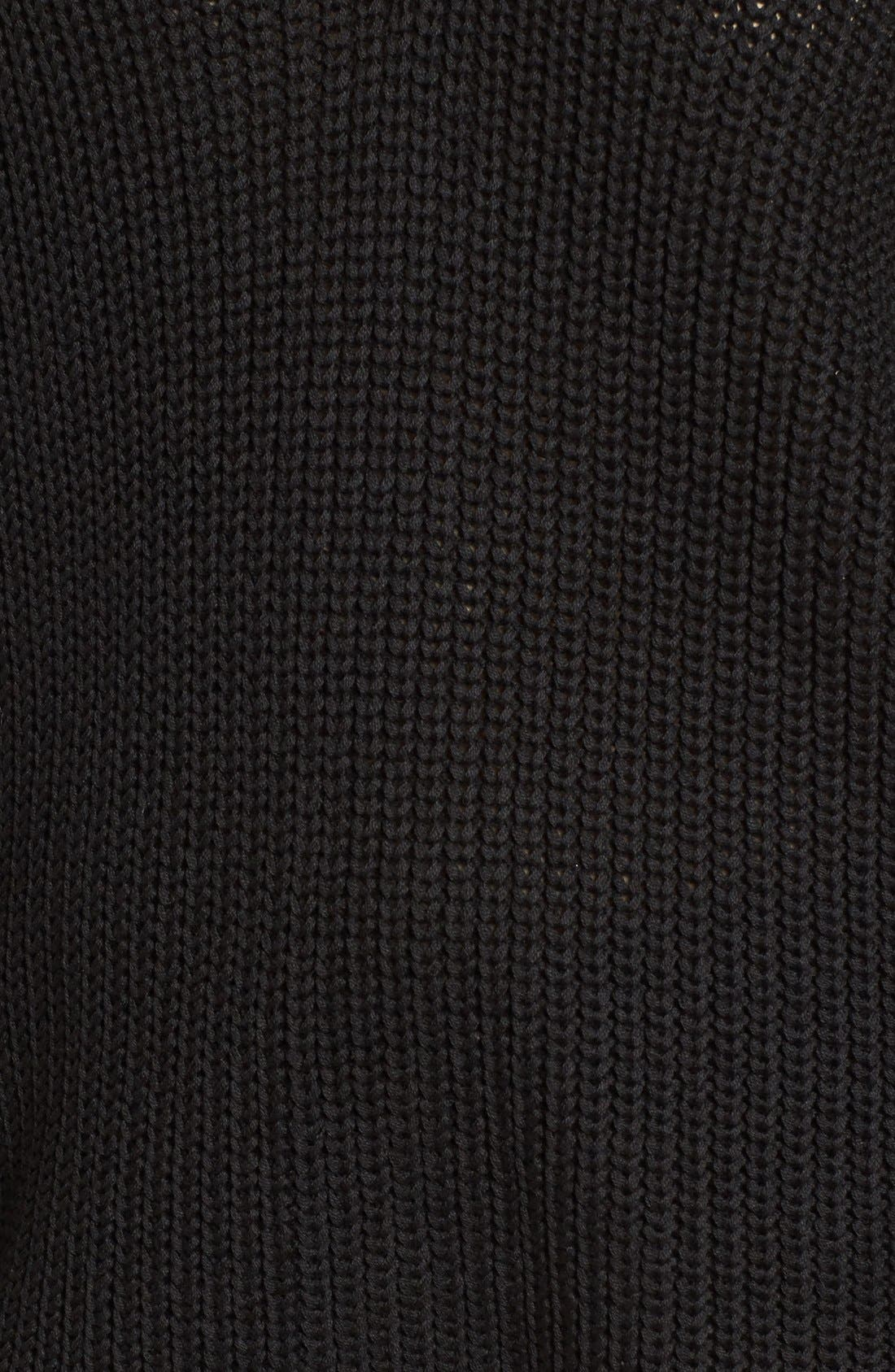 Lace-Up Back Sweater,                             Alternate thumbnail 3, color,                             001