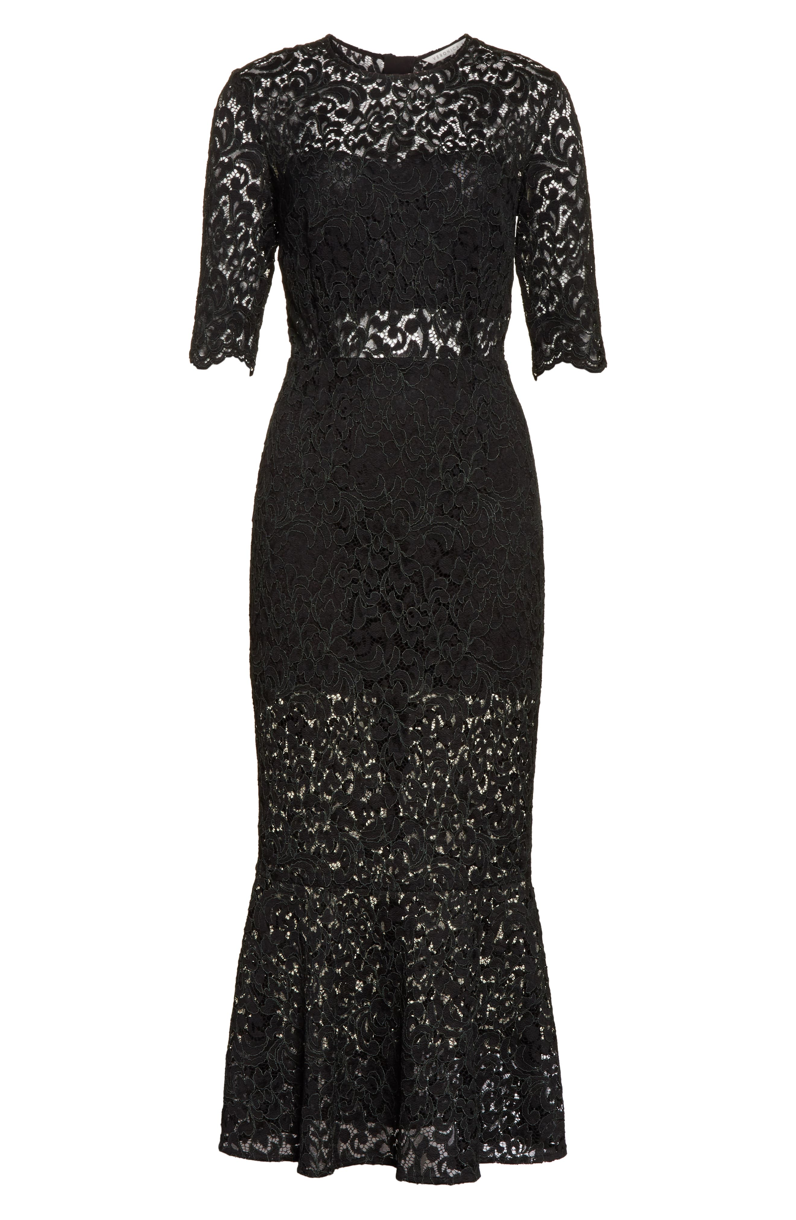 Linden Lace Midi Dress,                             Alternate thumbnail 6, color,