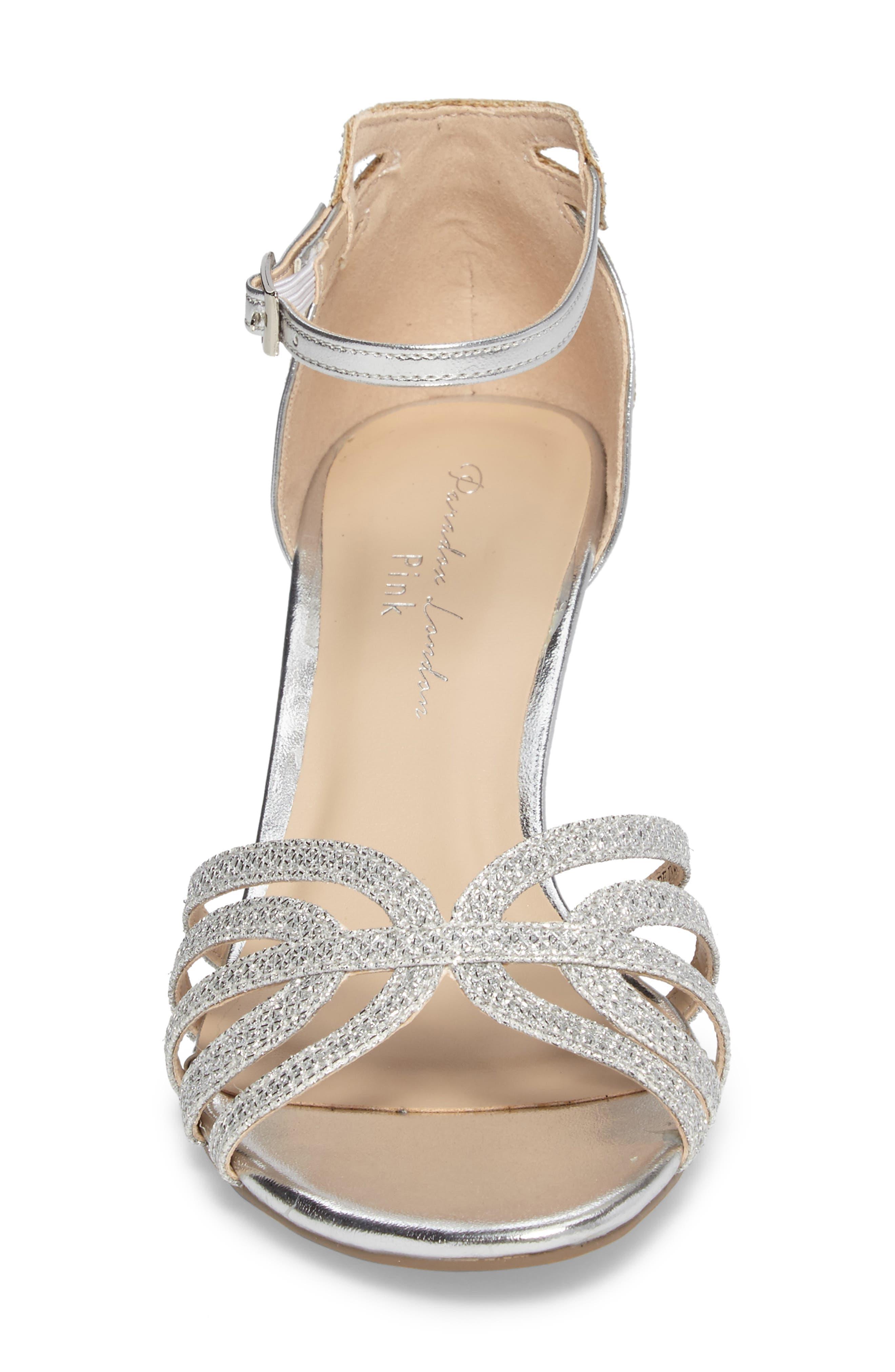 Melby Ankle Strap Sandal,                             Alternate thumbnail 4, color,                             SILVER