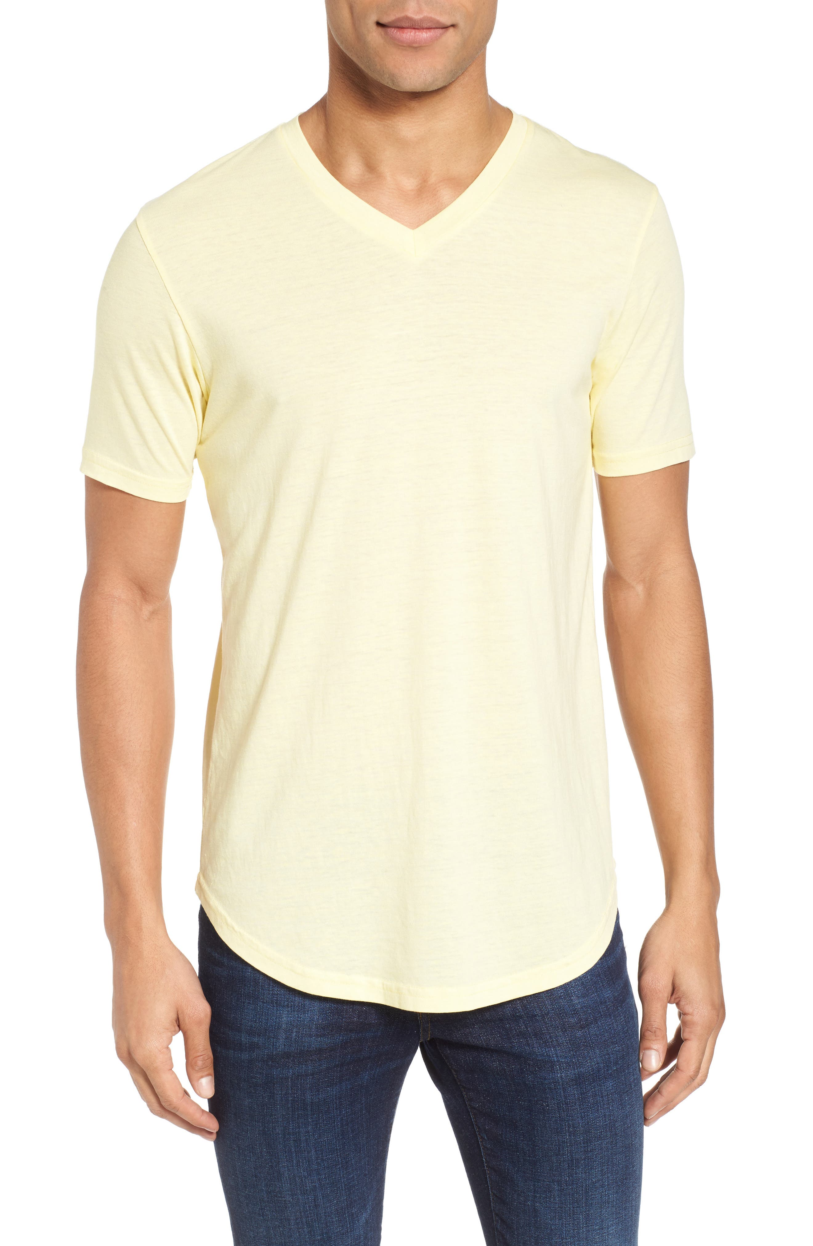 Scallop Triblend V-Neck T-Shirt,                             Main thumbnail 14, color,