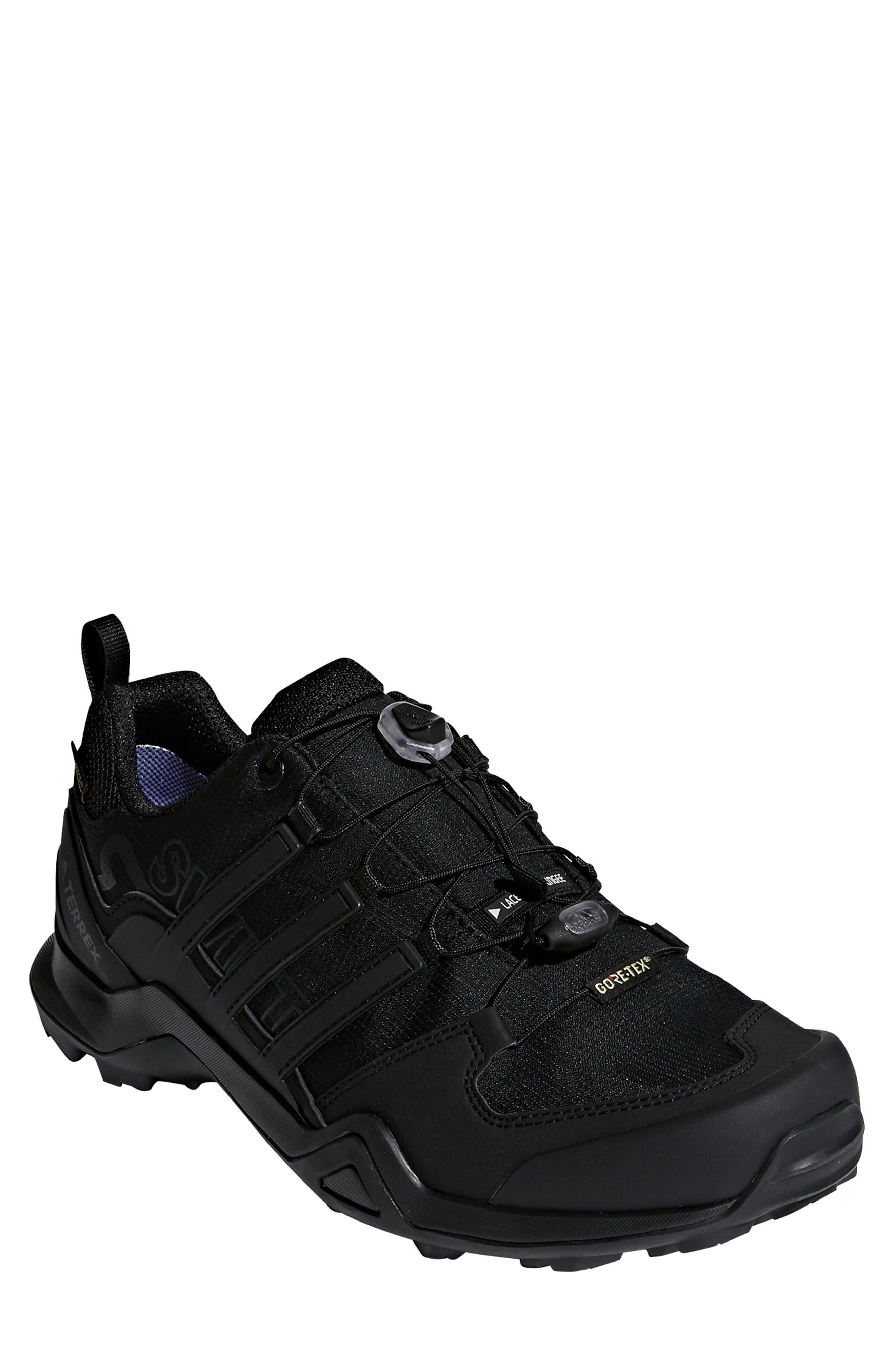 ADIDAS Terrex Swift R2 GTX Gore-Tex<sup>®</sup> Waterproof Hiking Shoe, Main, color, BLACK/ BLACK/ BLACK