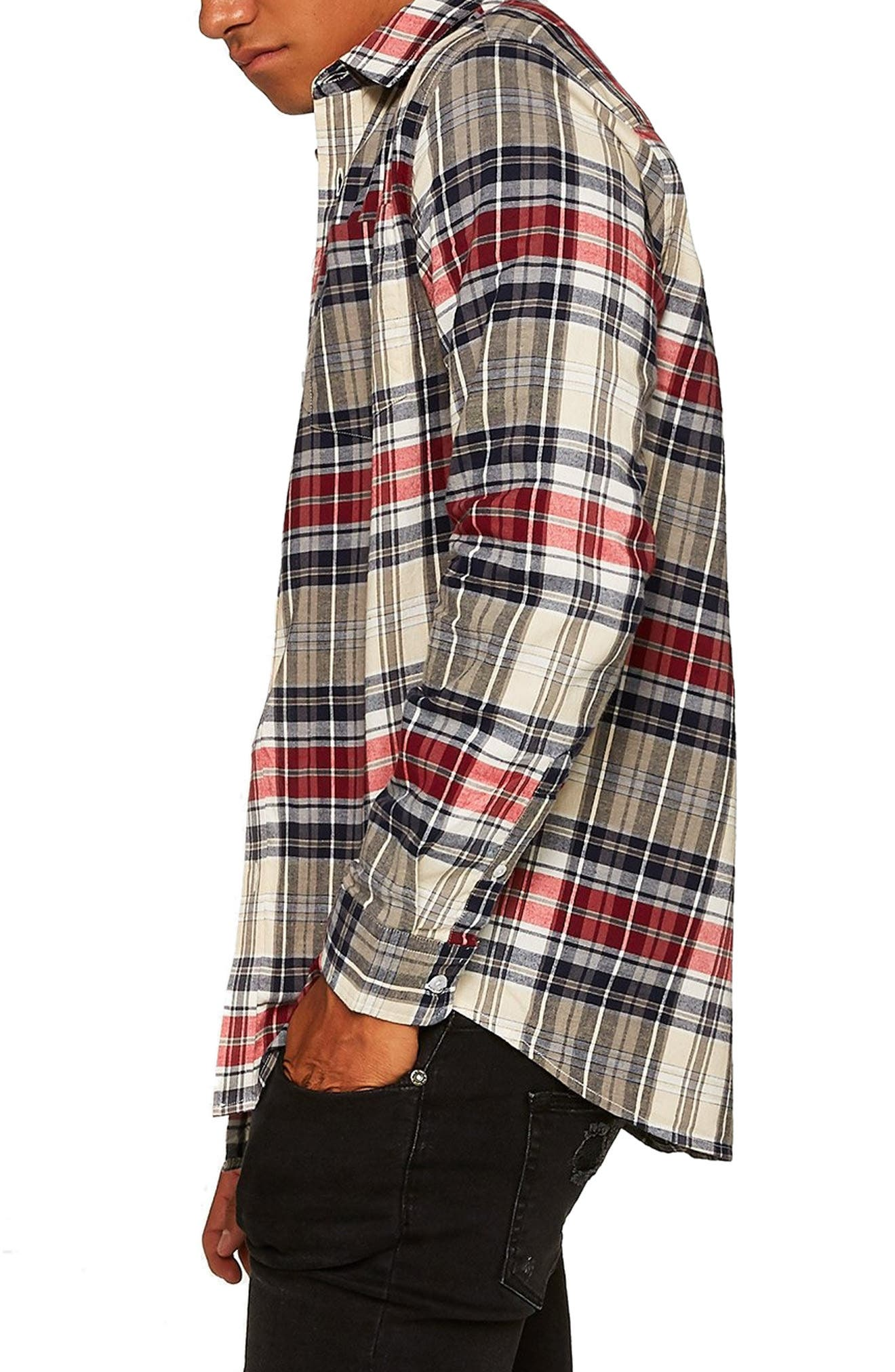 Check Shirt,                             Alternate thumbnail 4, color,                             STONE