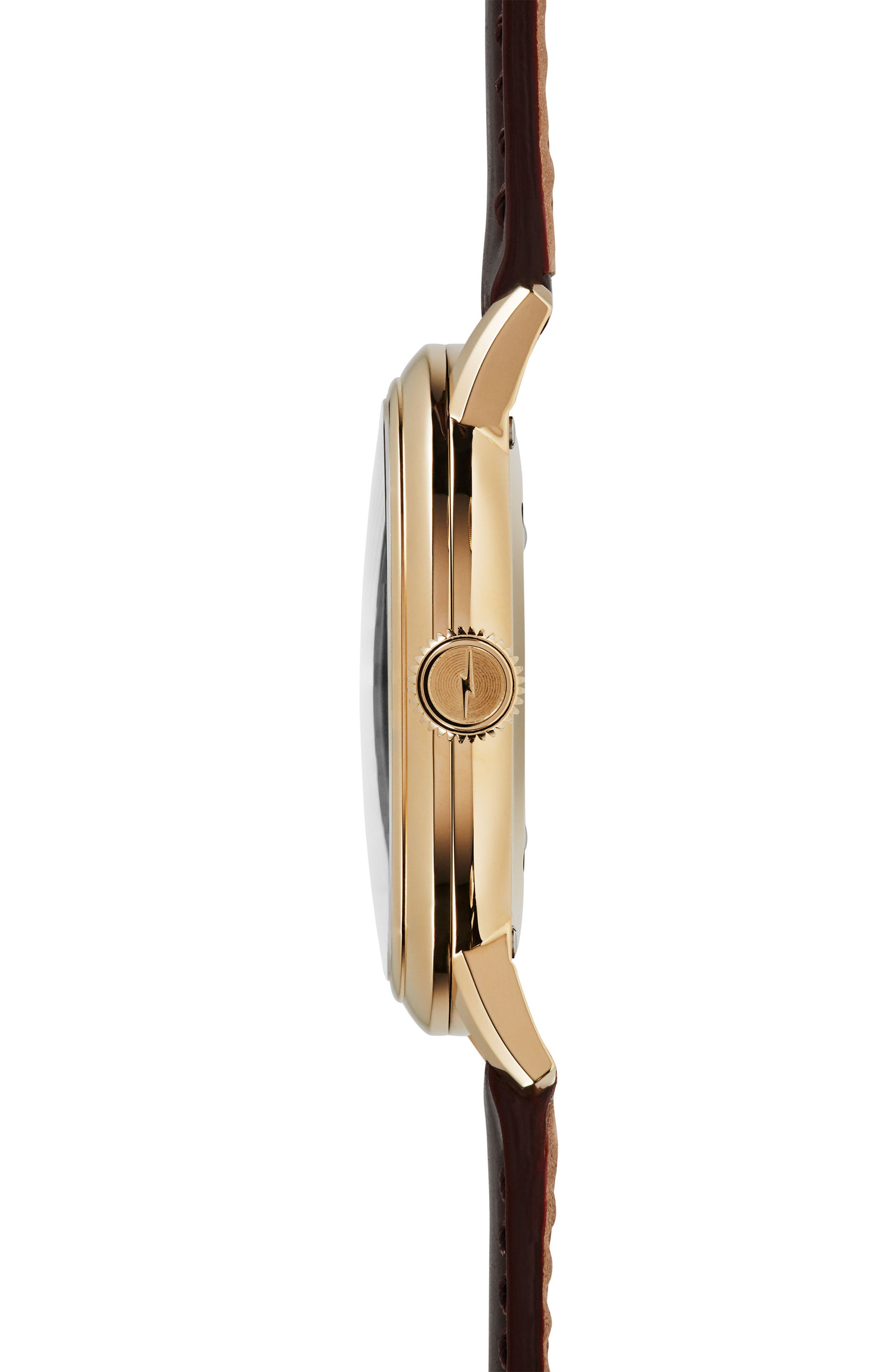 Bedrock Leather Strap Watch, 42mm,                             Alternate thumbnail 3, color,                             200