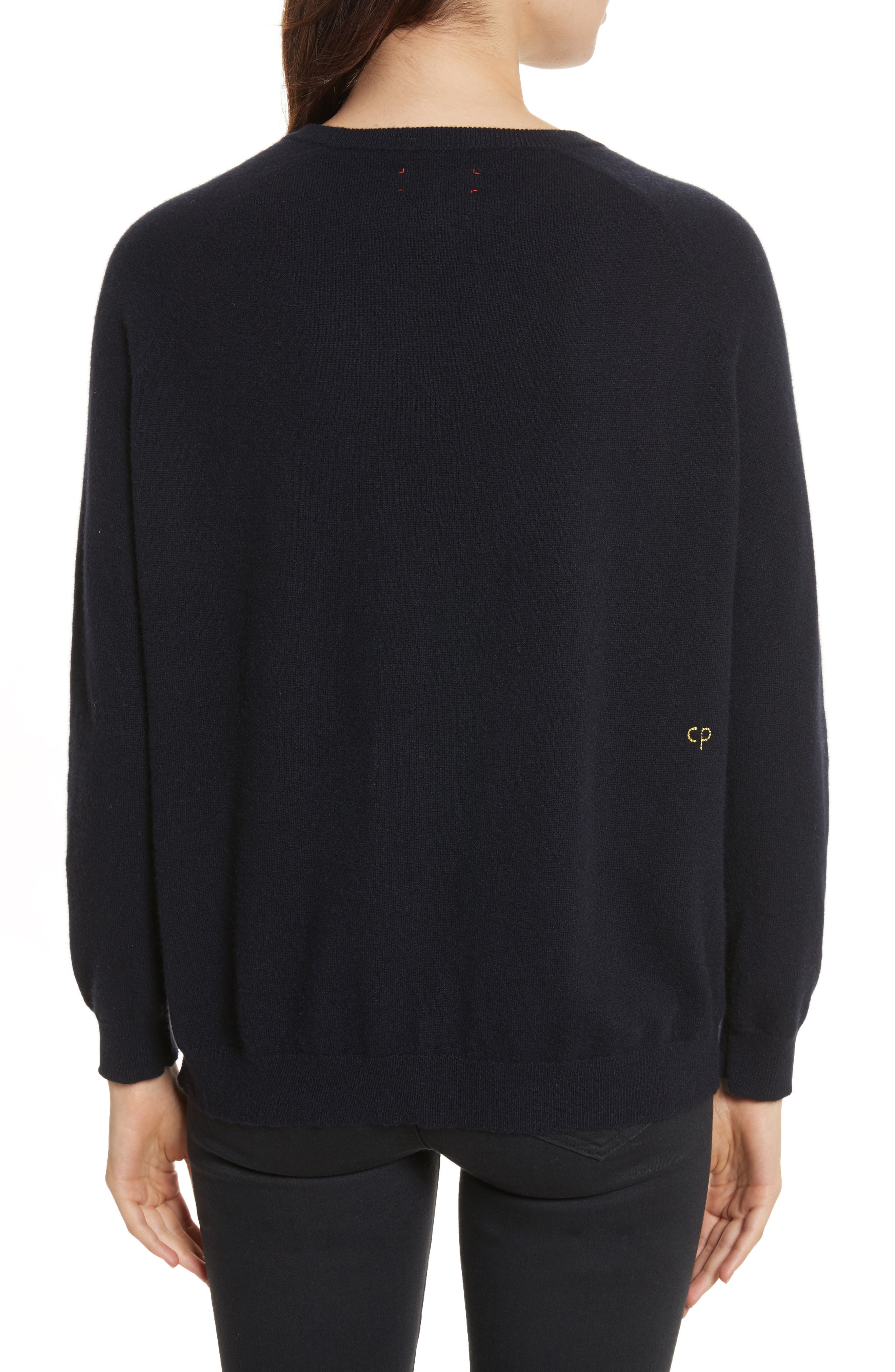 CHINTI & PARKER Moomin Pocket Cashmere Sweater,                             Alternate thumbnail 2, color,                             410