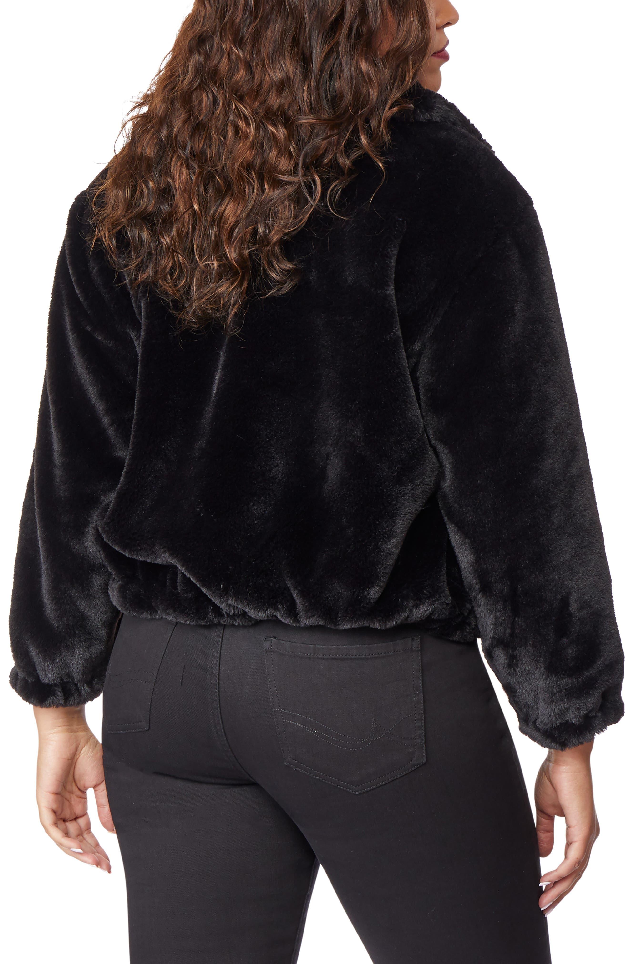 Super Soft Faux Fur Jacket,                             Alternate thumbnail 2, color,                             002
