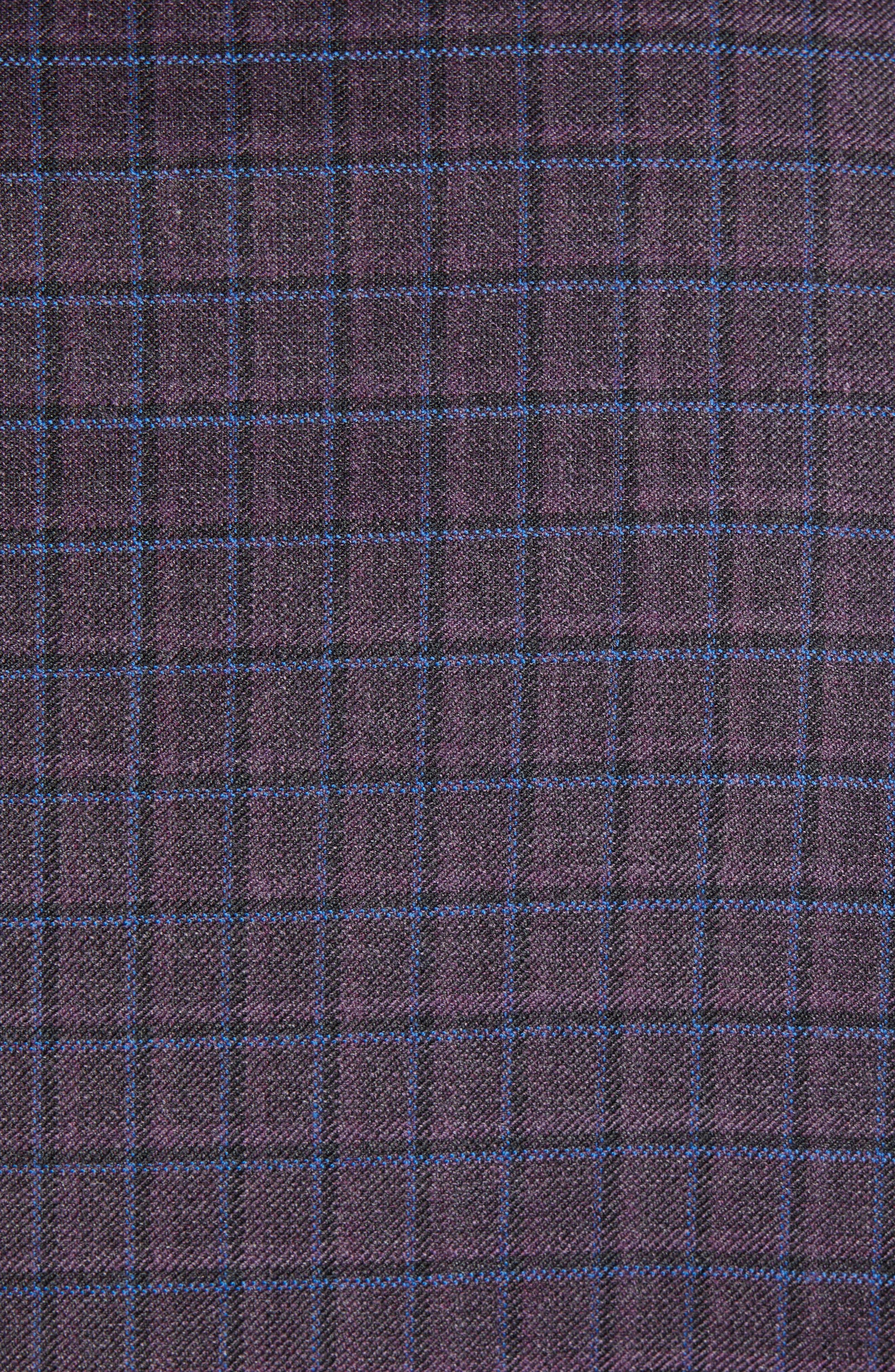Connor Classic Fit Check Wool Sport Coat,                             Alternate thumbnail 6, color,                             BORDEAUX