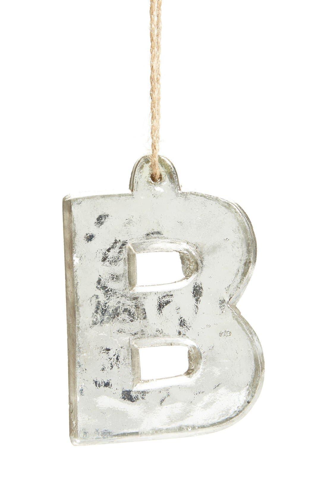 Handblown Glass Alphabet Ornament,                             Main thumbnail 17, color,
