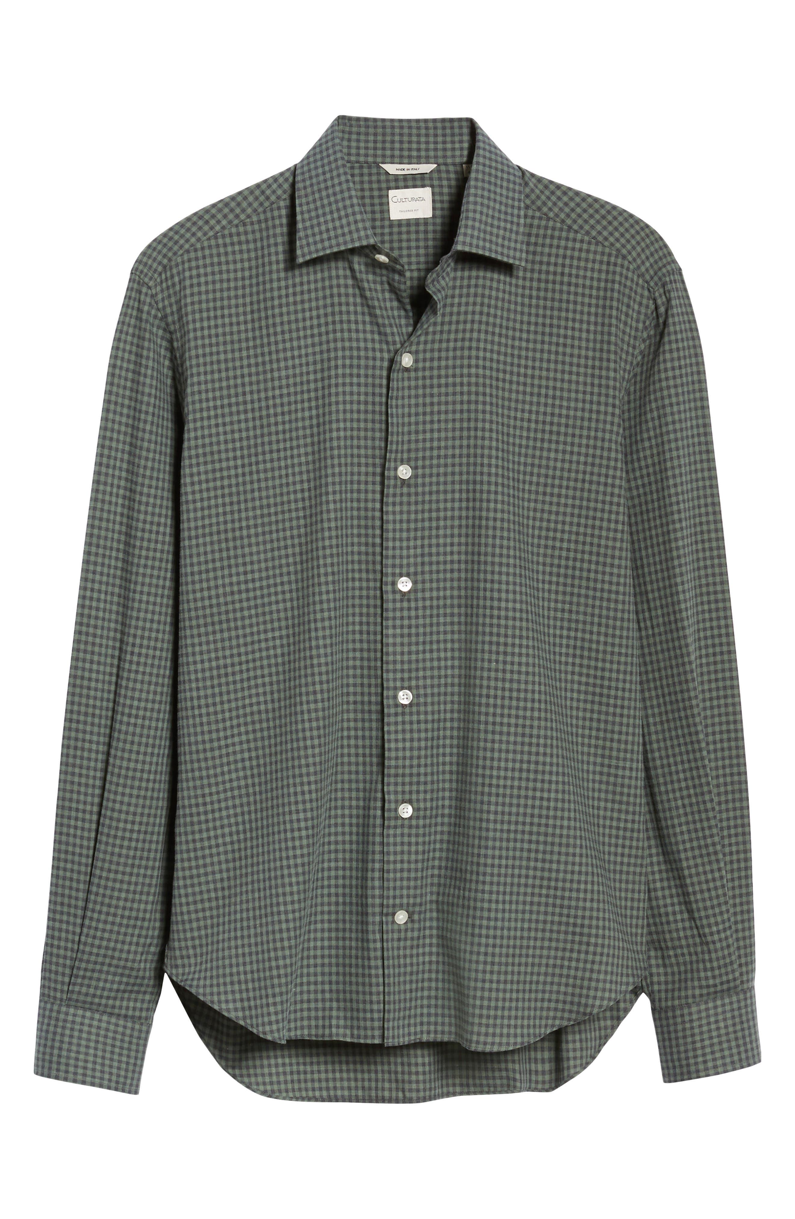 Gingham Sport Shirt,                             Alternate thumbnail 6, color,