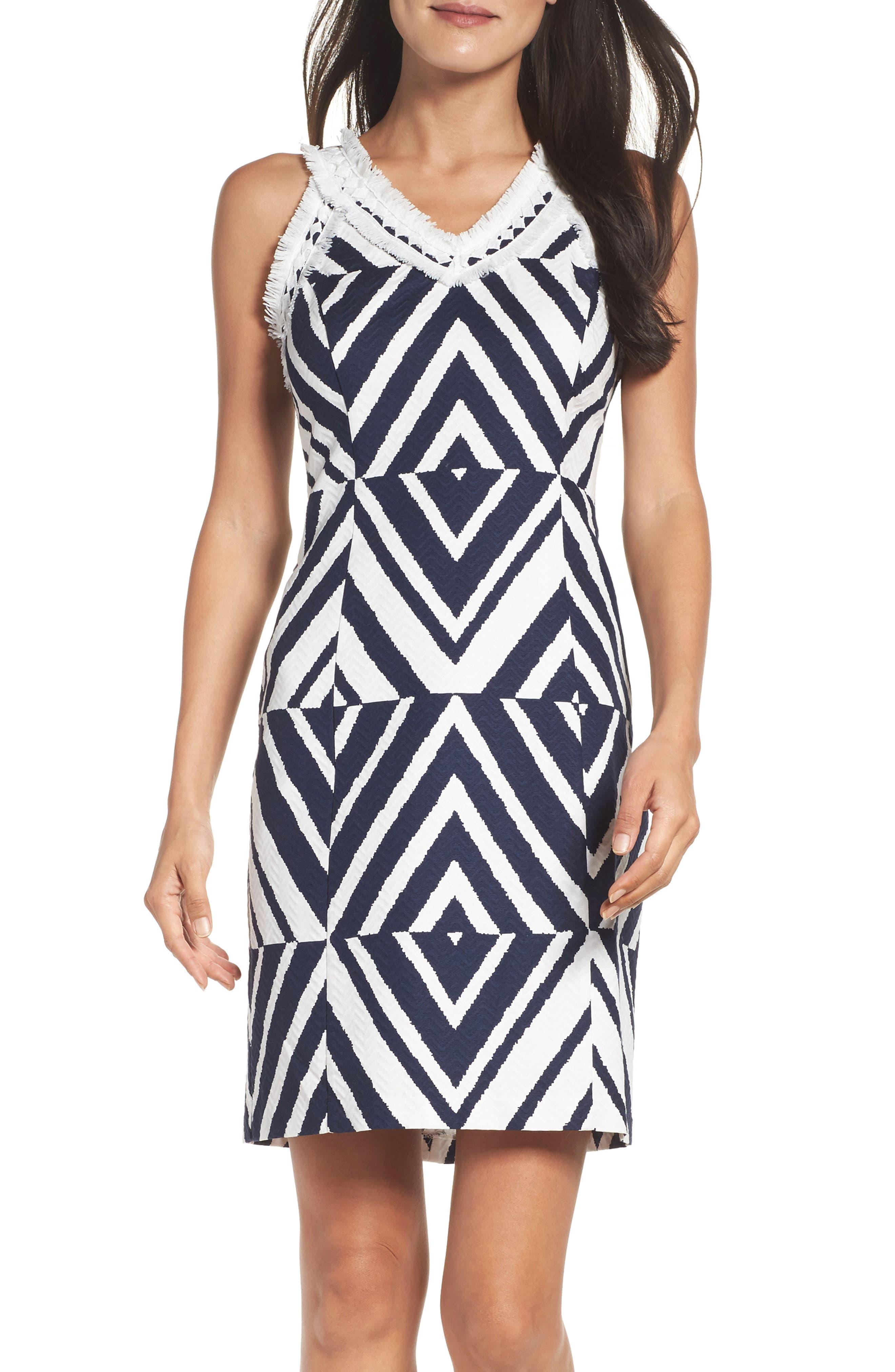 Texture Sheath Dress,                             Main thumbnail 1, color,